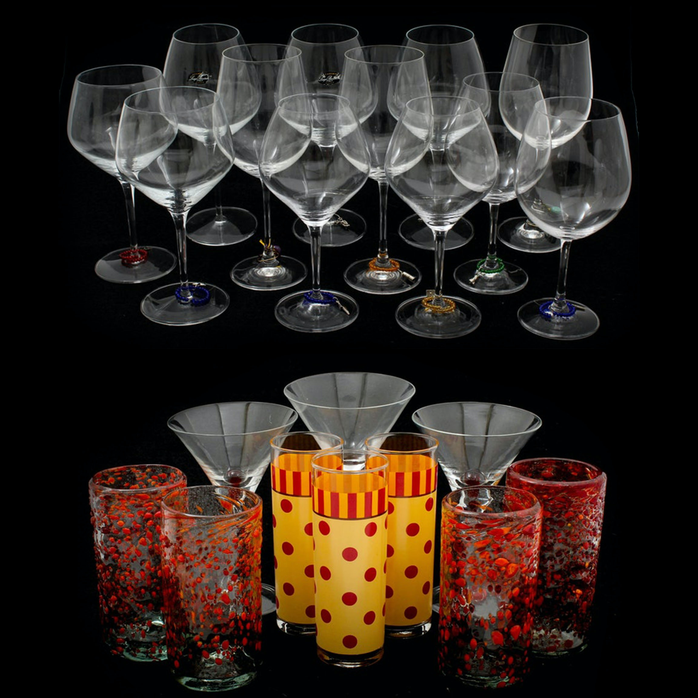 Wine Glasses and Decorative Tumblers