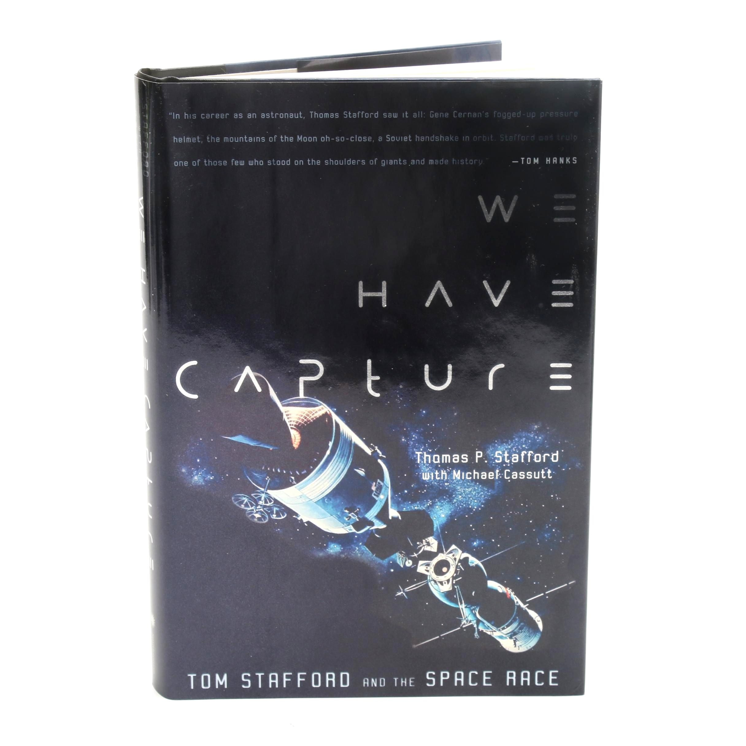 Tom Stafford Signed Space Race We Have Capture Book