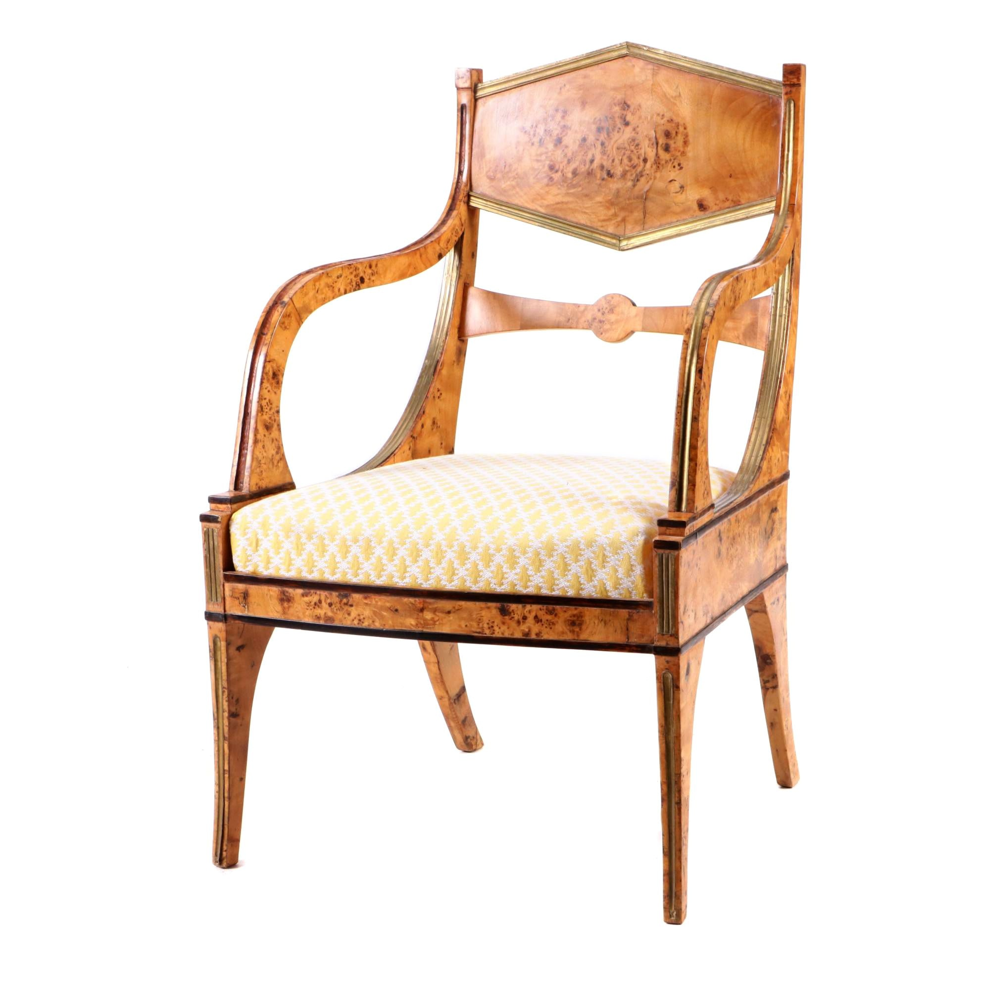 Russian or Baltic Empire Armchair