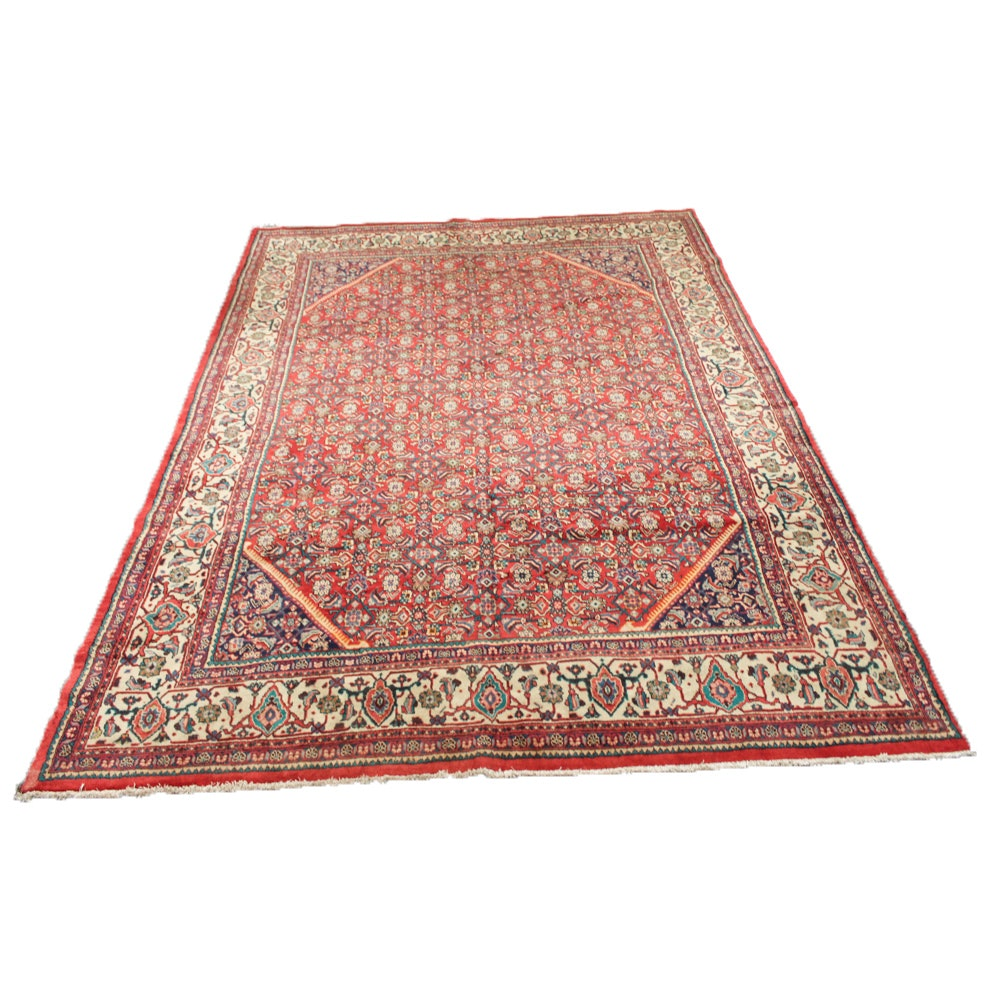 Hand-Knotted Persian Mahal Room Size Rug