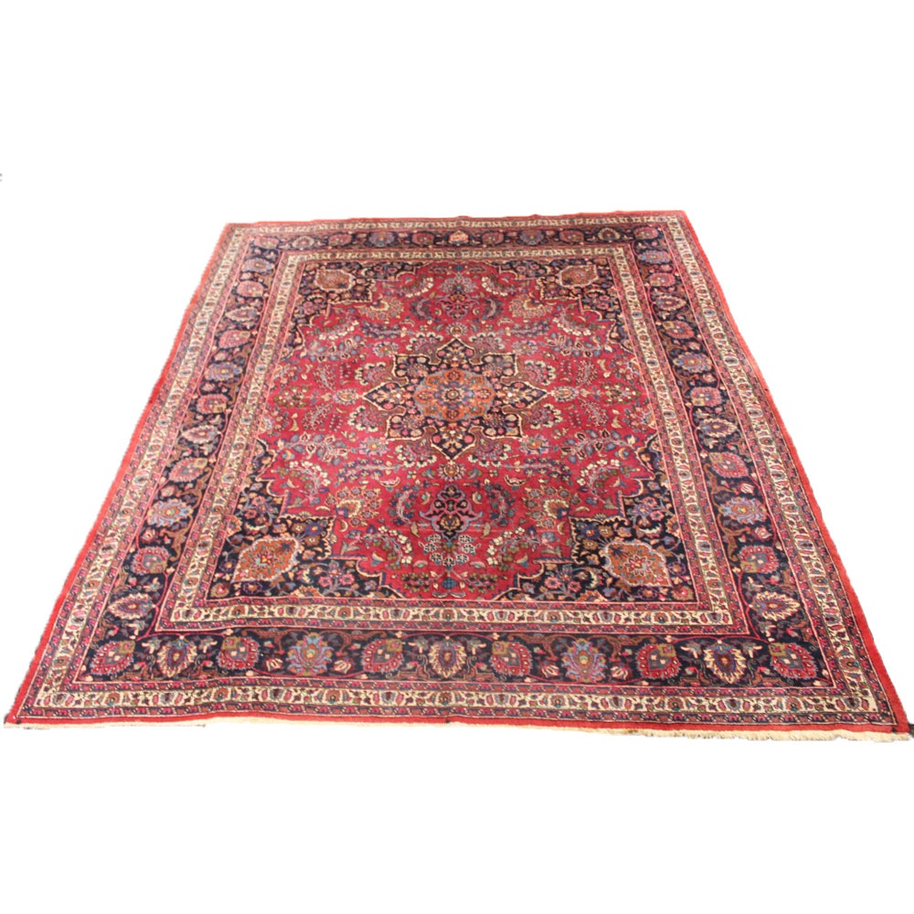 Hand-Knotted Persian Khorassan Room Size Rug, Signed Makhmal Baft