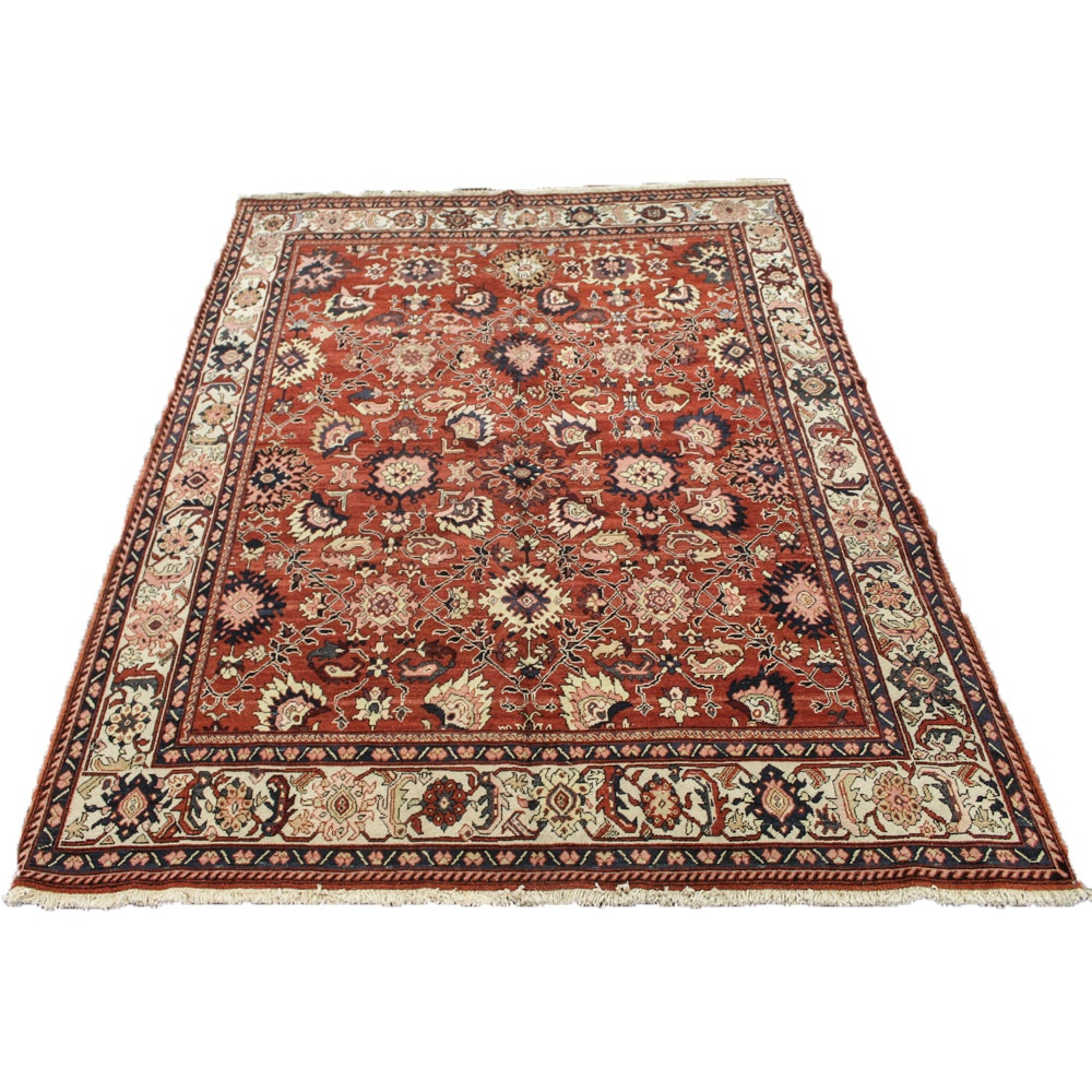 Hand-Knotted Turkish Azari Heriz Room Size Rug