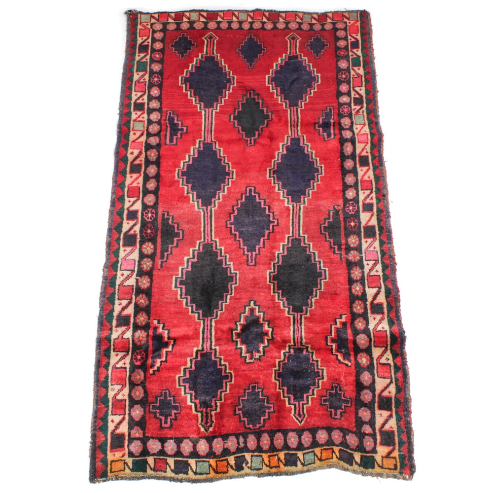 Hand-Knotted Persian Afshar Long Rug
