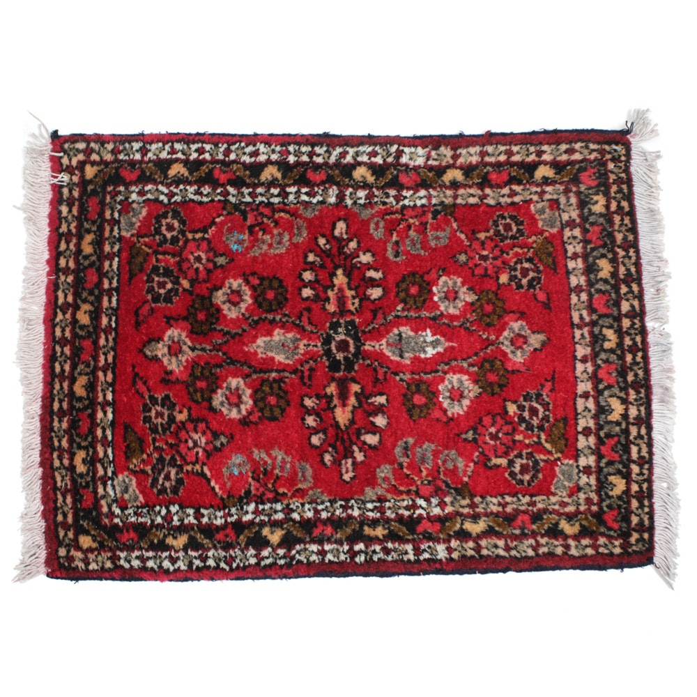 Hand-Knotted Persian Darjezine Rug
