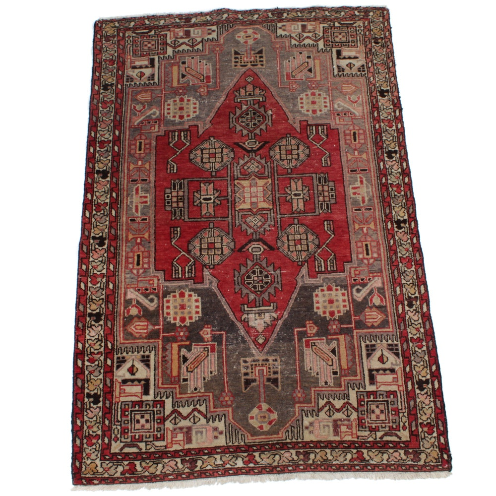 Hand-Knotted Persian Bakhtiari Rug