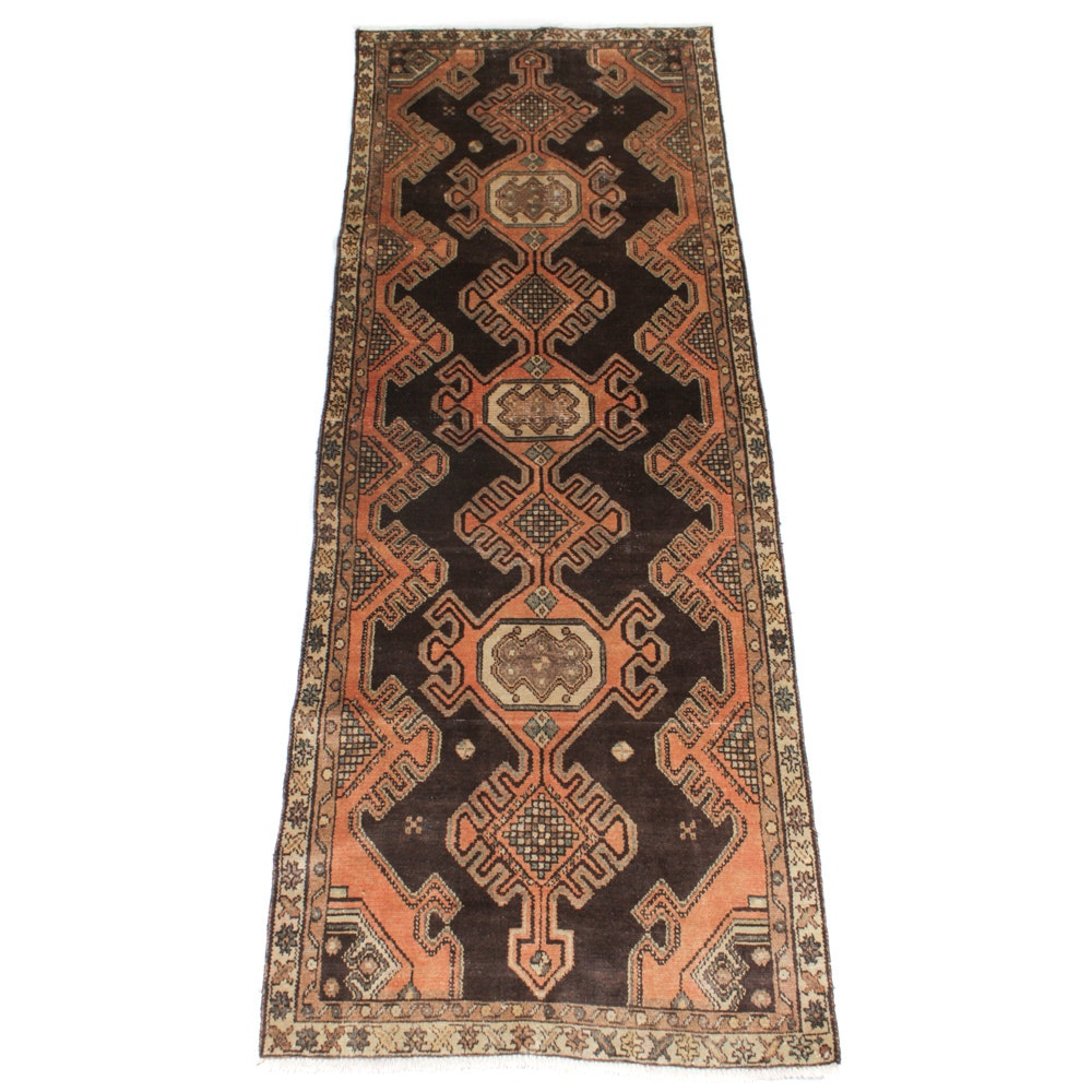 Hand-Knotted Persian Malayer Long Rug, circa 1900