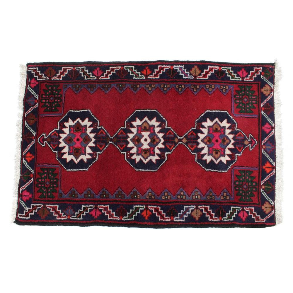 Hand-Knotted Persian Zanjan Rug