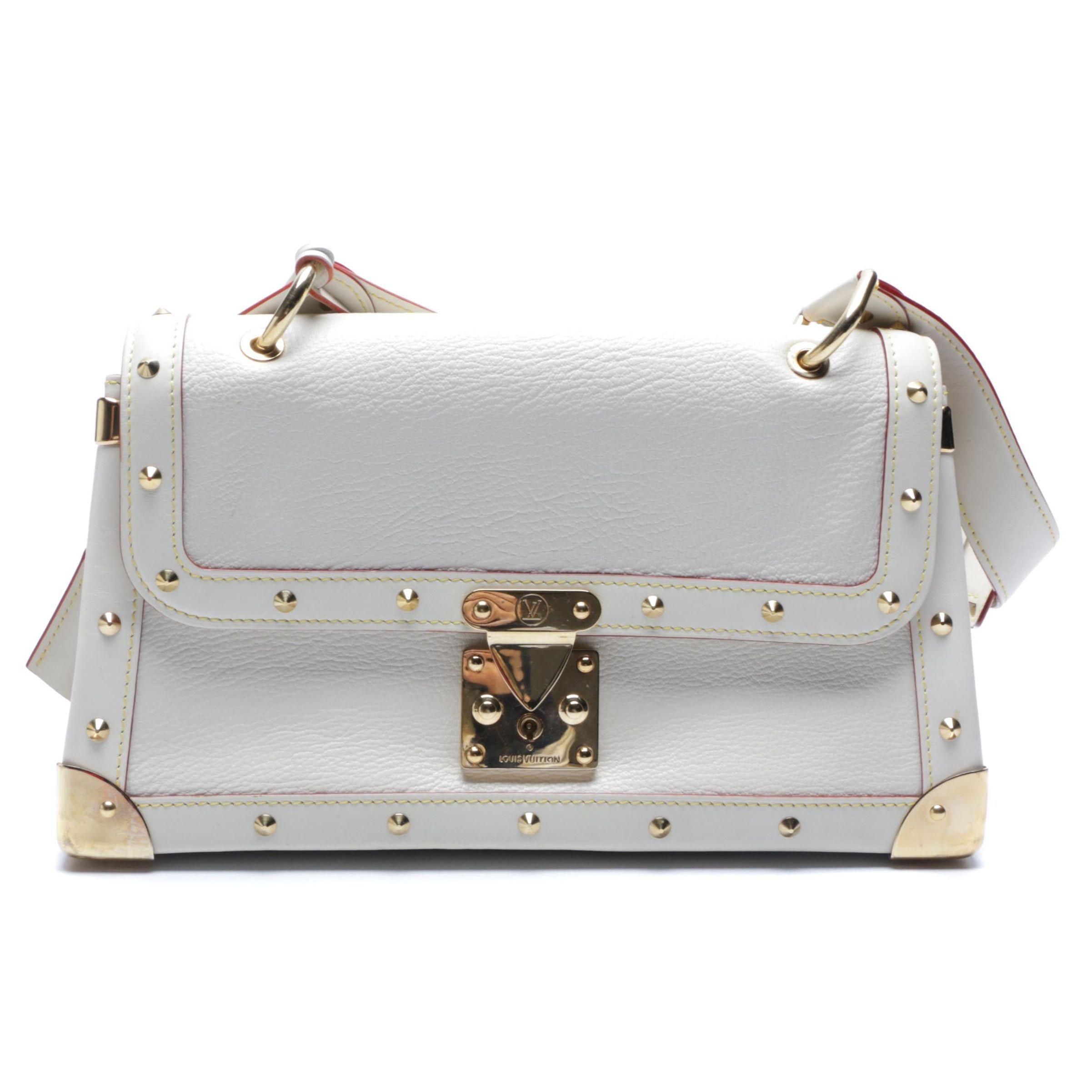 2003 Louis Vuitton Paris White Suhali Leather L'Aimable Bag