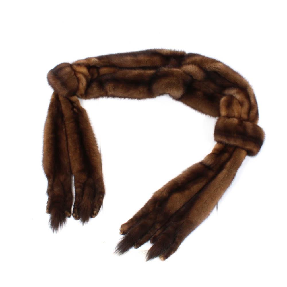 Vintage Sable Fur Wrap