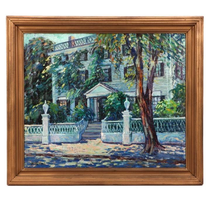 "William P. Teal Oil Painting ""Perry House - Newburyport, Massachusetts"""