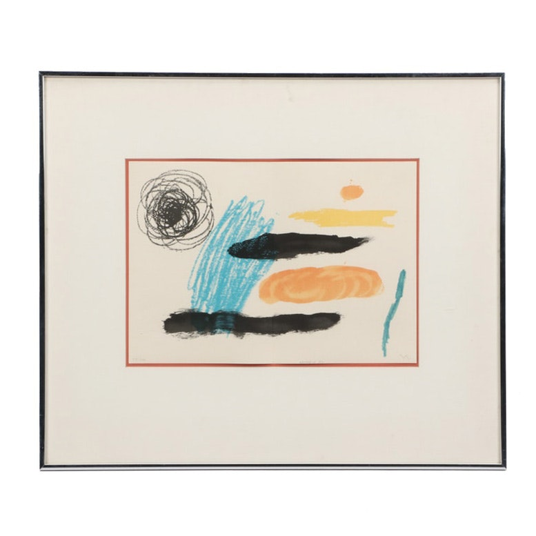 "Joan Miró 1964 Limited Edition Lithograph from ""Obra Inedita Recent"""