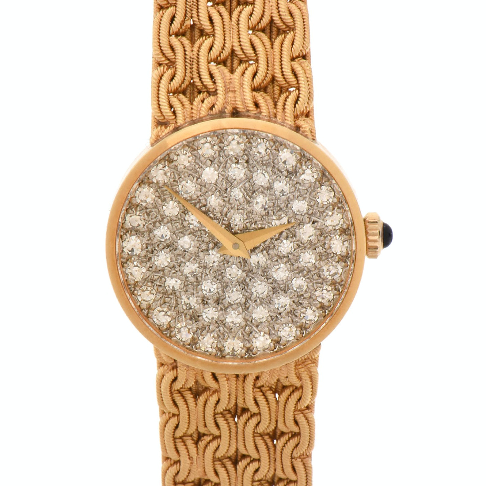 Baume & Mercier Rivera 18K Yellow Gold Diamond Dial Wristwatch, Circa 1970s