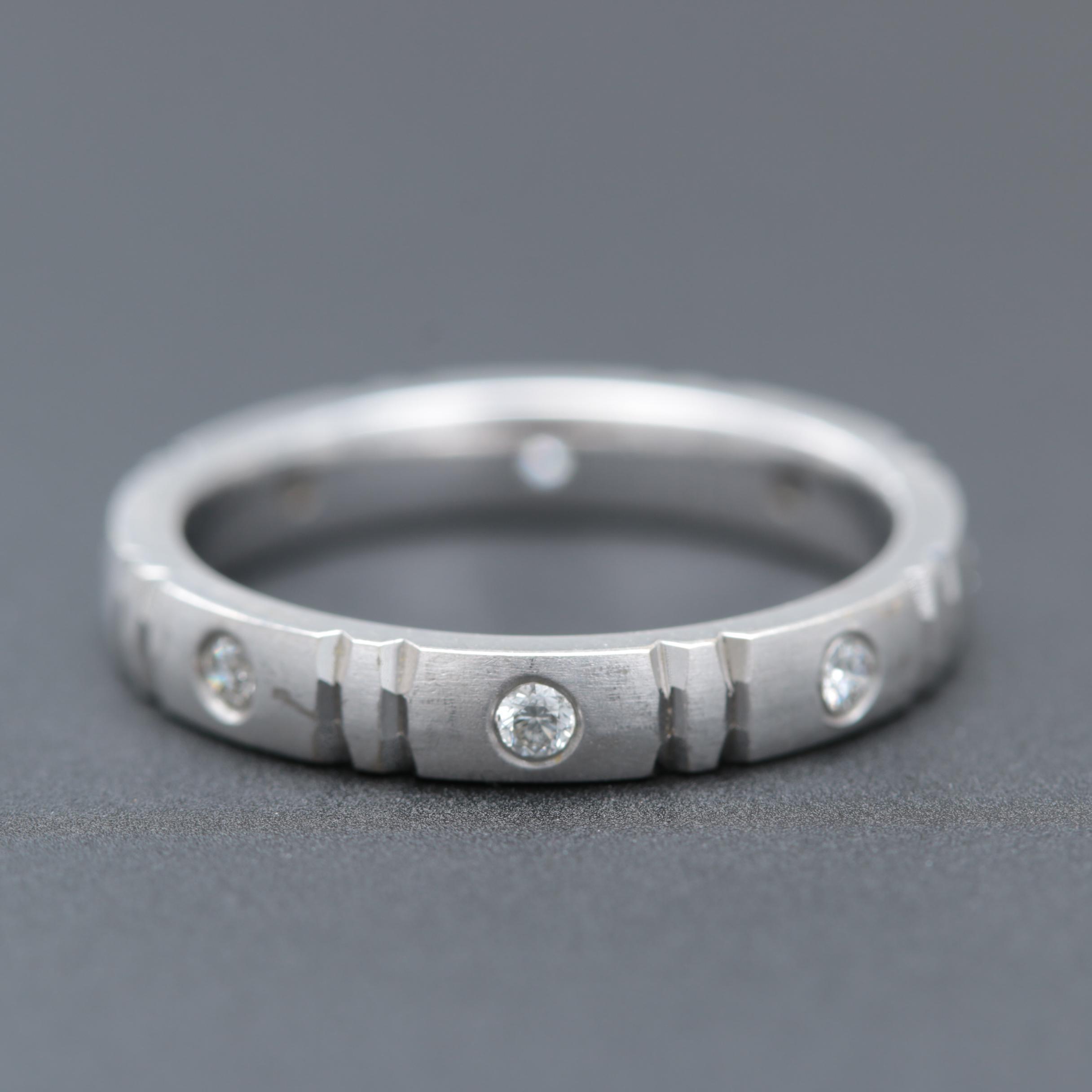 Shane Co. 14K White Gold Diamond Ring