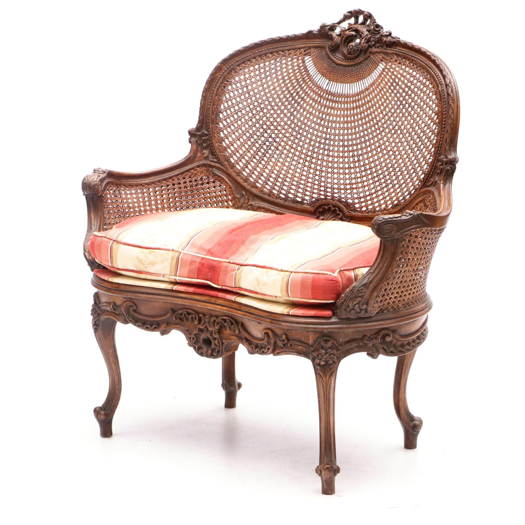 Louis XV Style Beech Settee, Circa 1910
