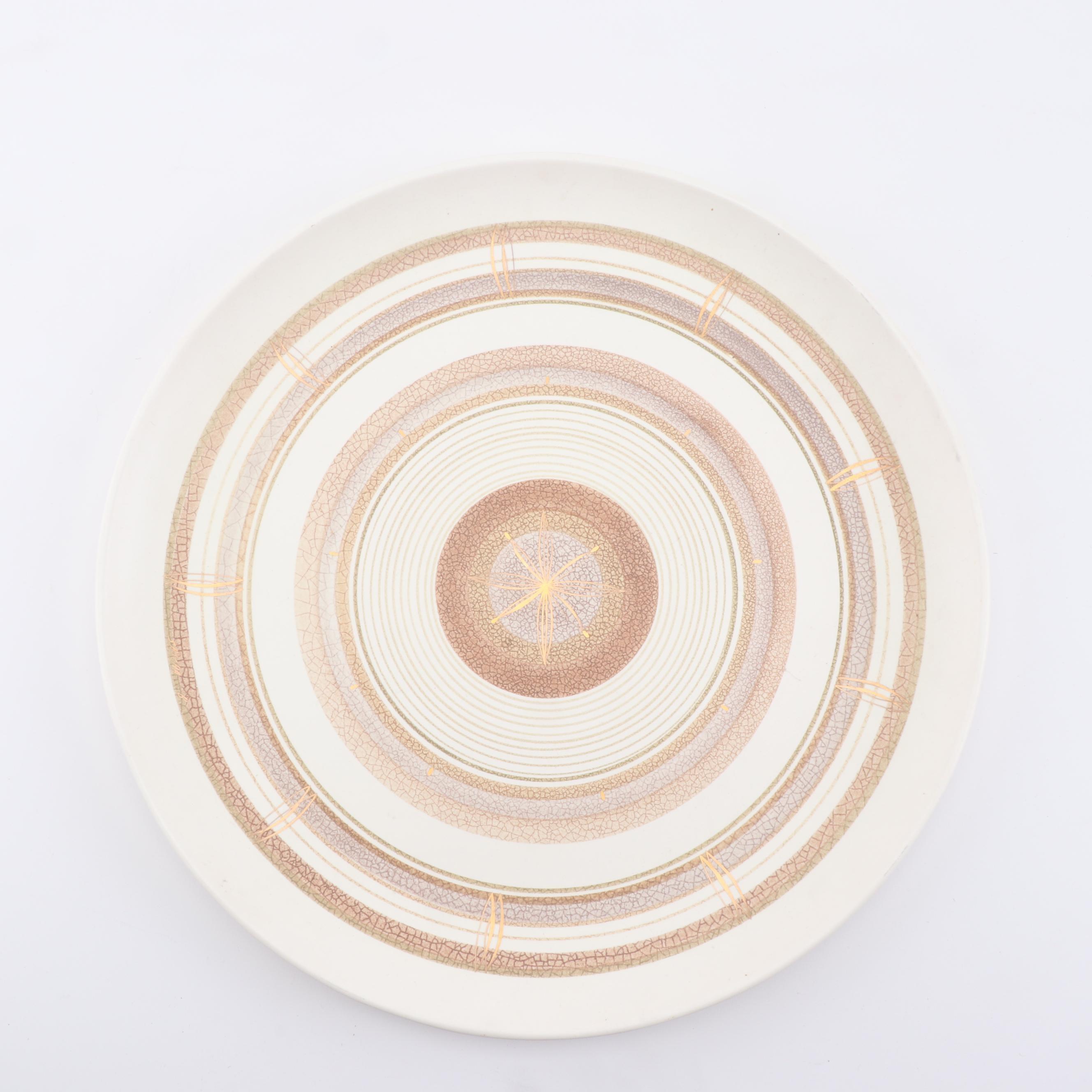 Sascha Brastoff Ceramic Platter, Mid Century