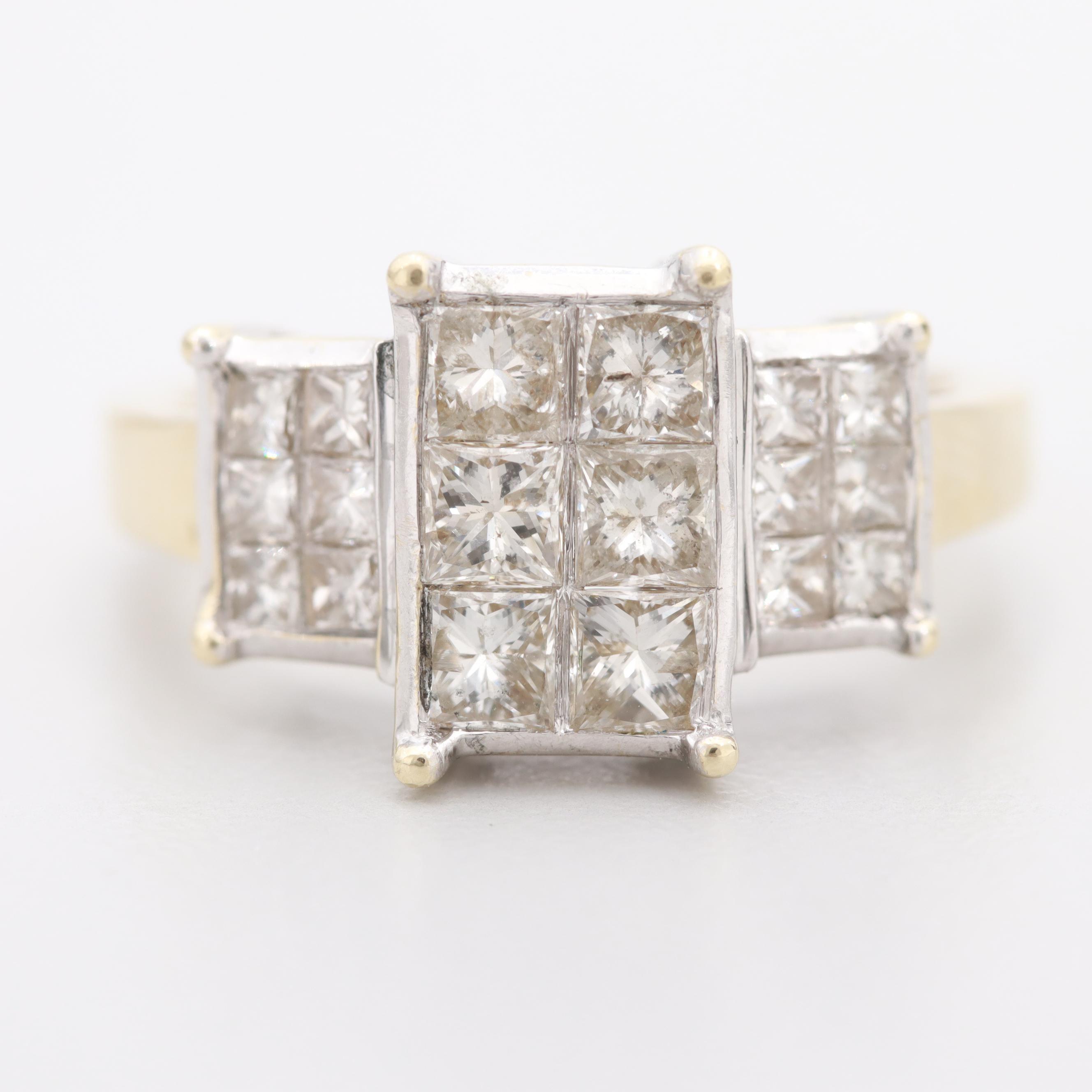 14K Yellow Gold 1.38 CTW Diamond Ring