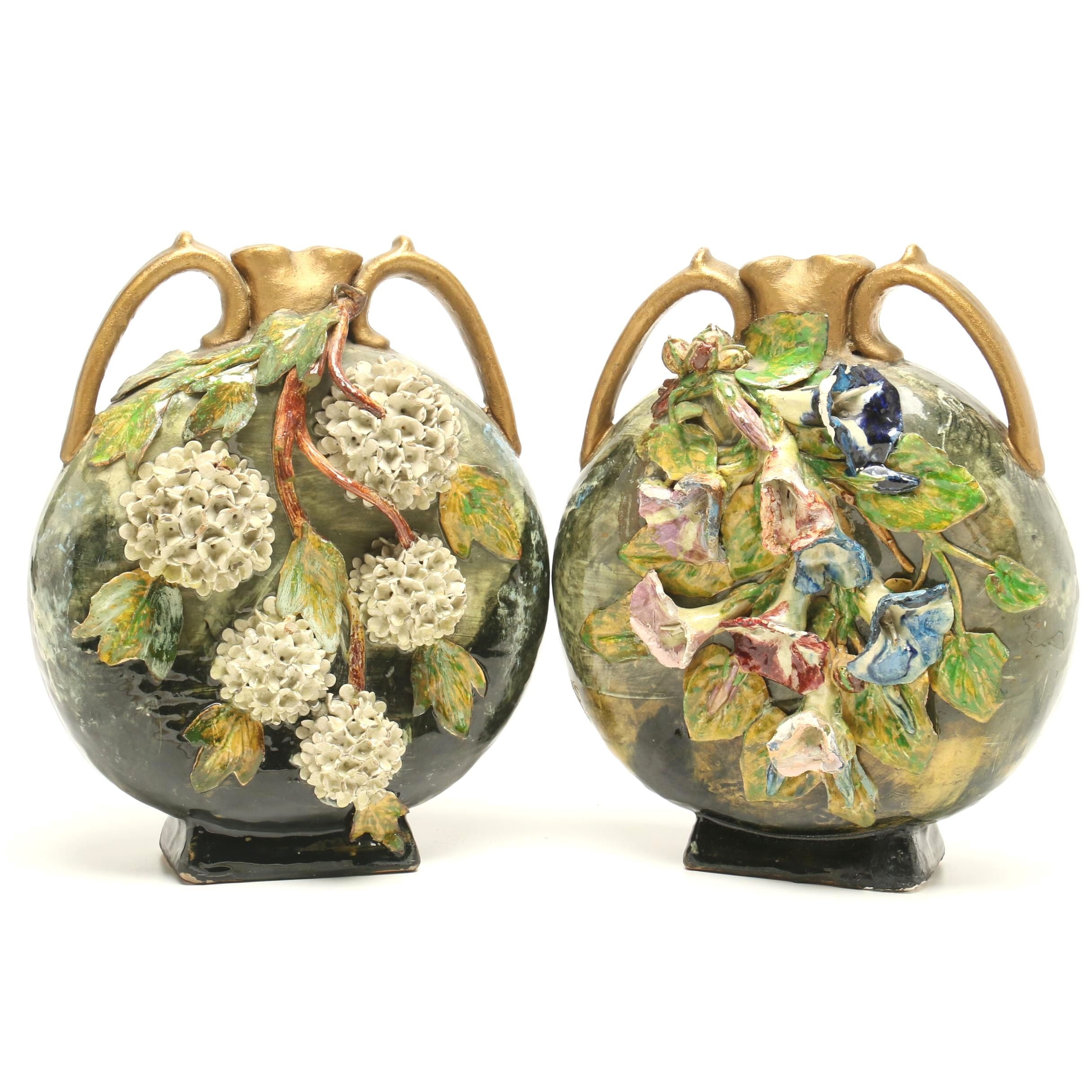Cincinnati Art Pottery Vases, Late 19th Century