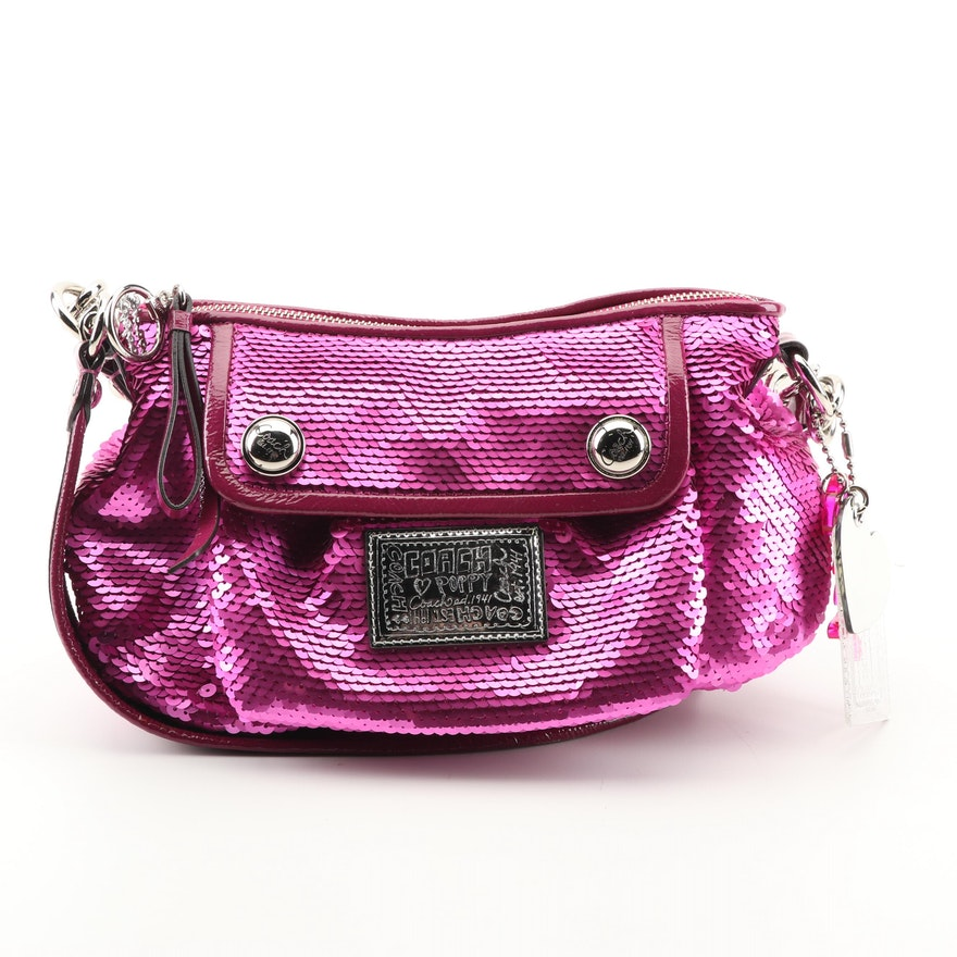 Coach Poppy Sequin Groovy Crossbody Bag   EBTH cd2bd4b41f