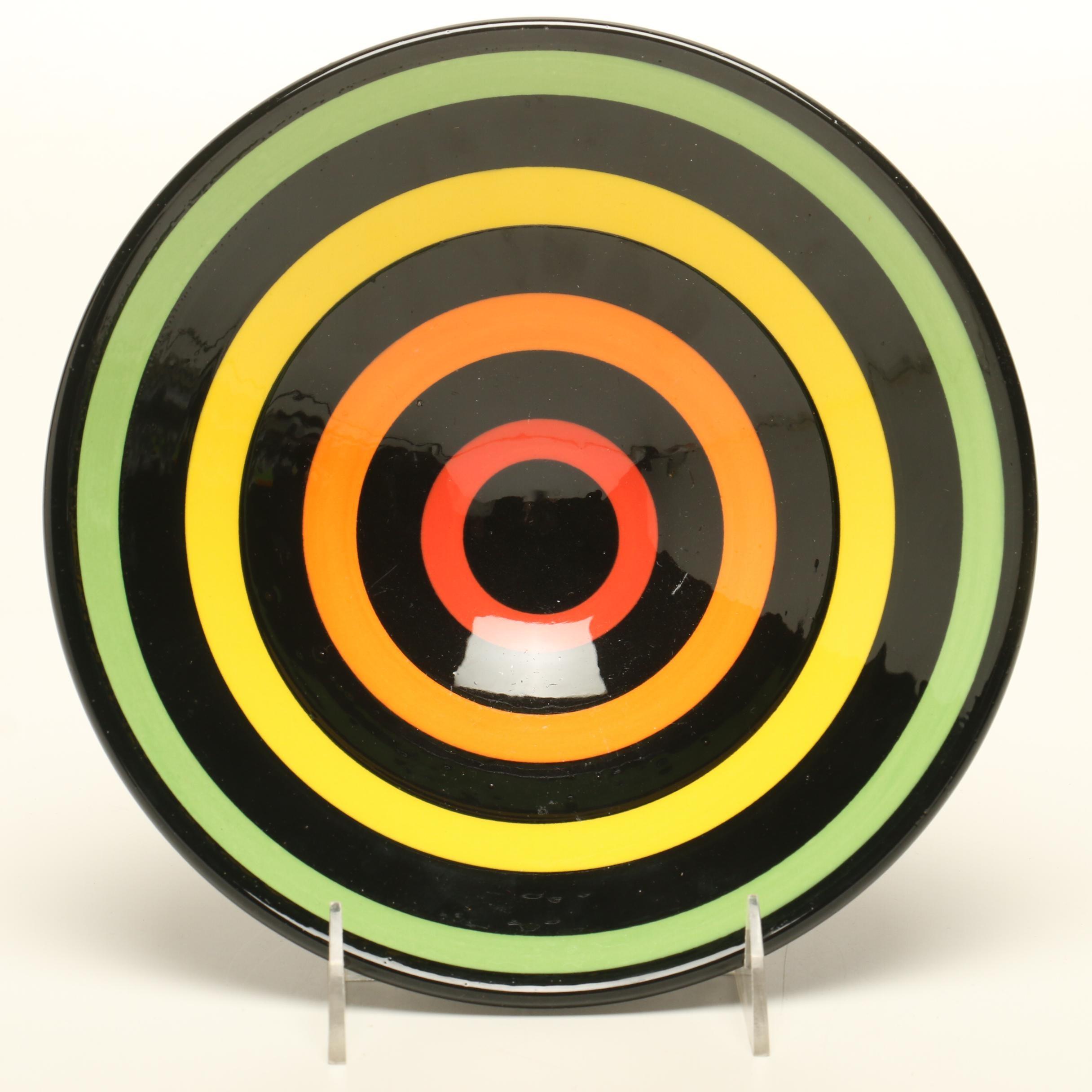 Mid-Century Modern Patrick Dougherty Signed Ceramic Bowl