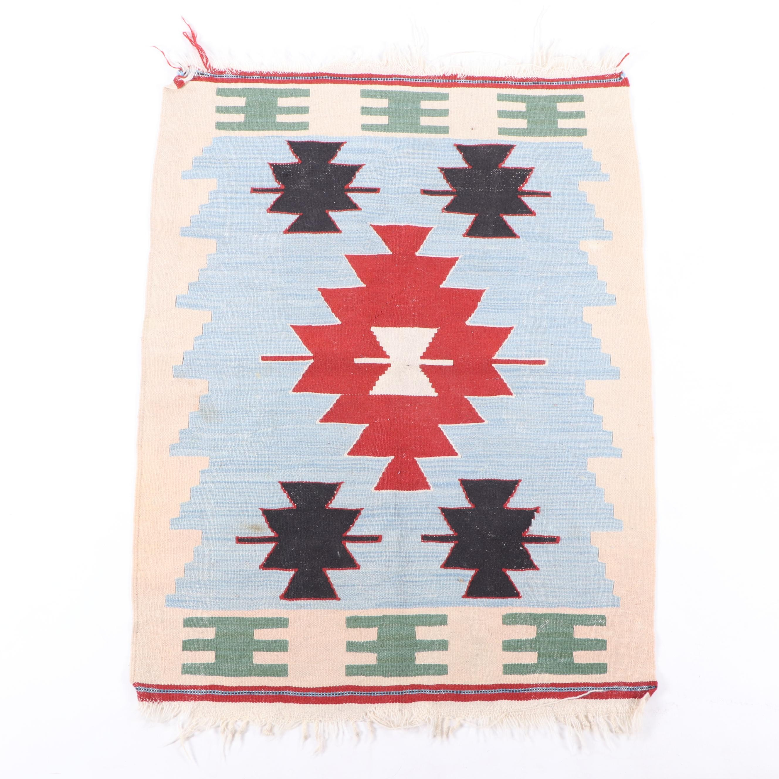 Handwoven Anatolian Manastir Wool Kilim
