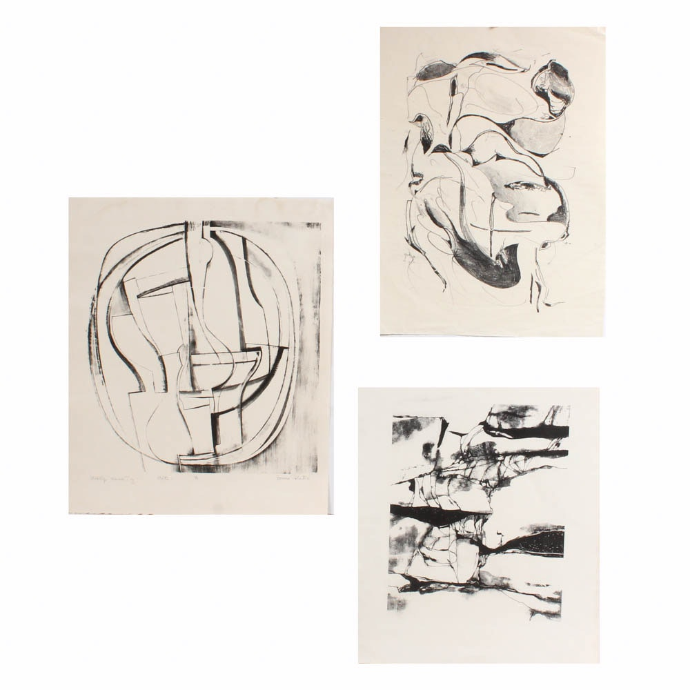 Donald Roberts Experimental and Abstract Lithographs