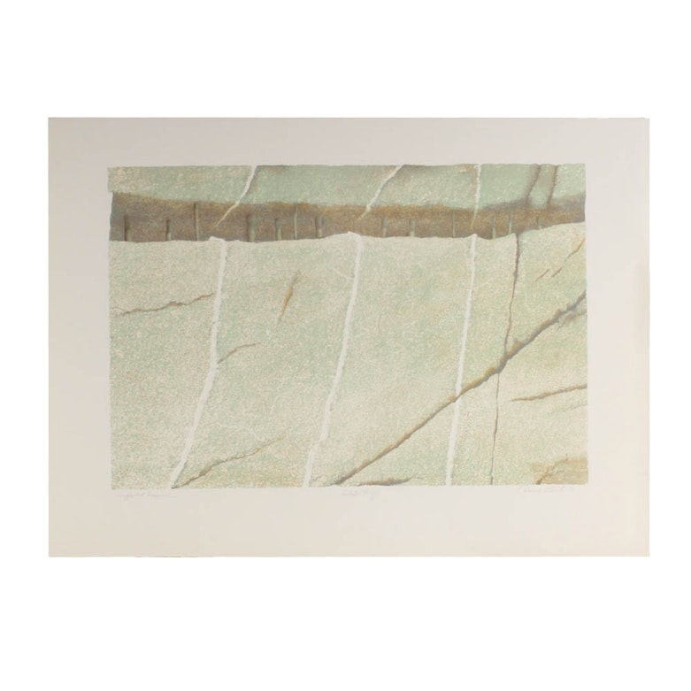 "Donald Roberts Serigraph ""Supported Fissure"""