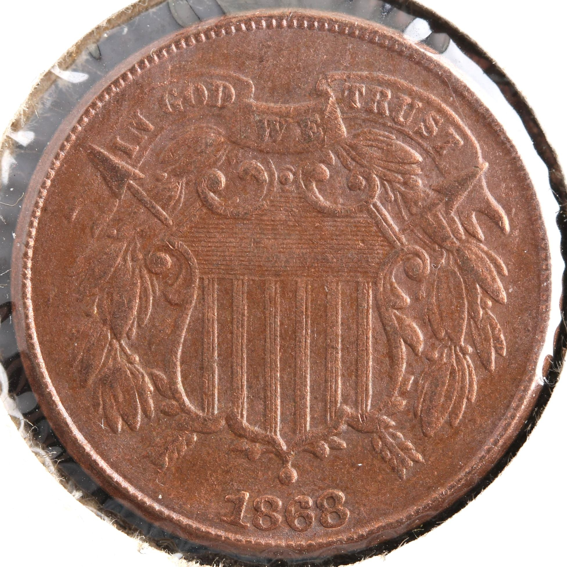 1868 U.S. Shield 2-Cent Coin