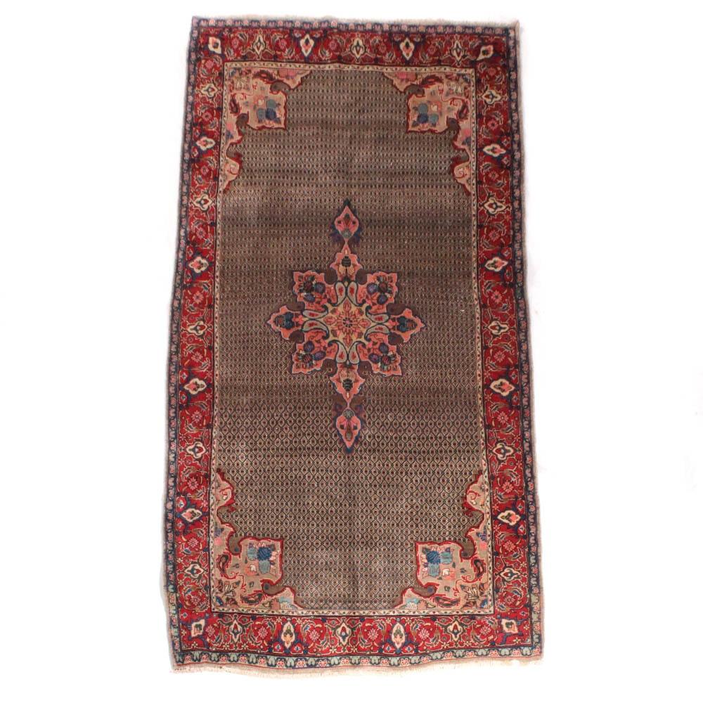 Hand-Knotted Persian Senneh Bijar Long Rug