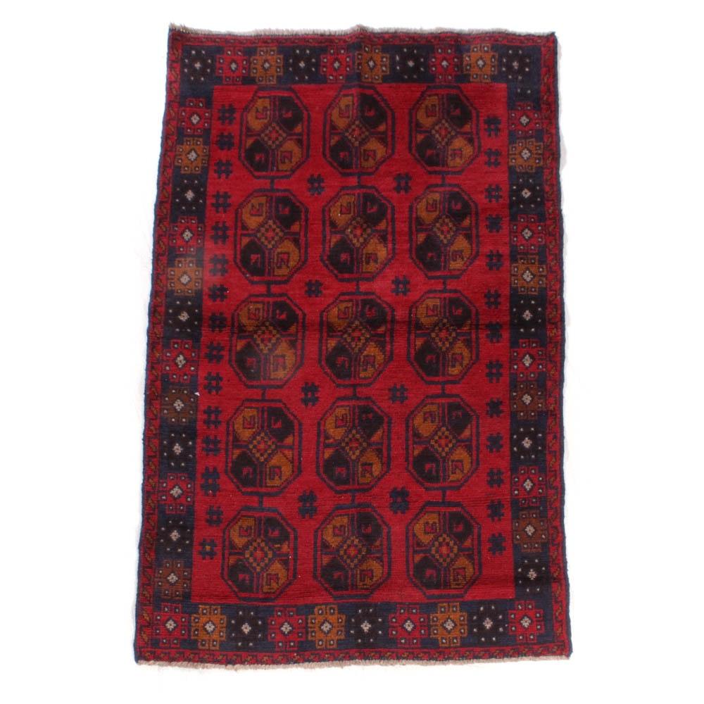 Hand-Knotted Afghani Bahor Rug