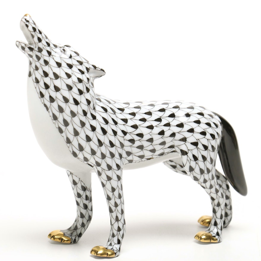 Herend Hungary First Edition Wolf Figurine