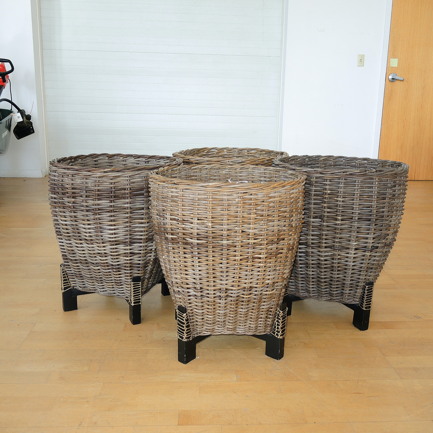 Four Pier One Imports Basket Planters