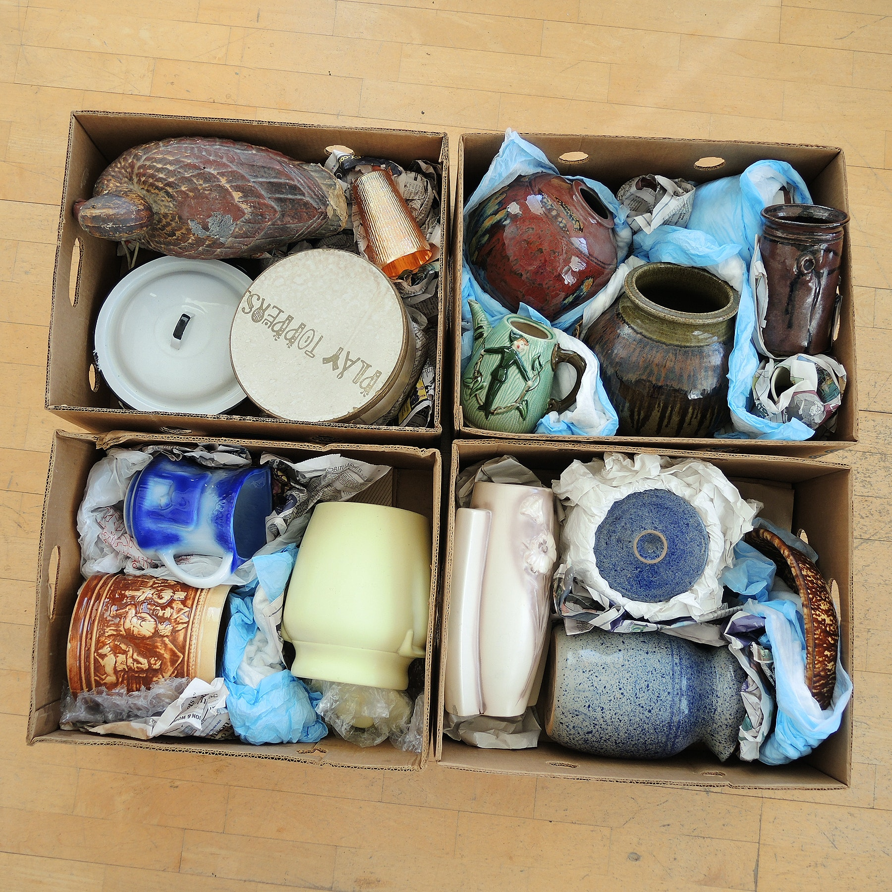 Selection of Pottery Vessels and Canisters