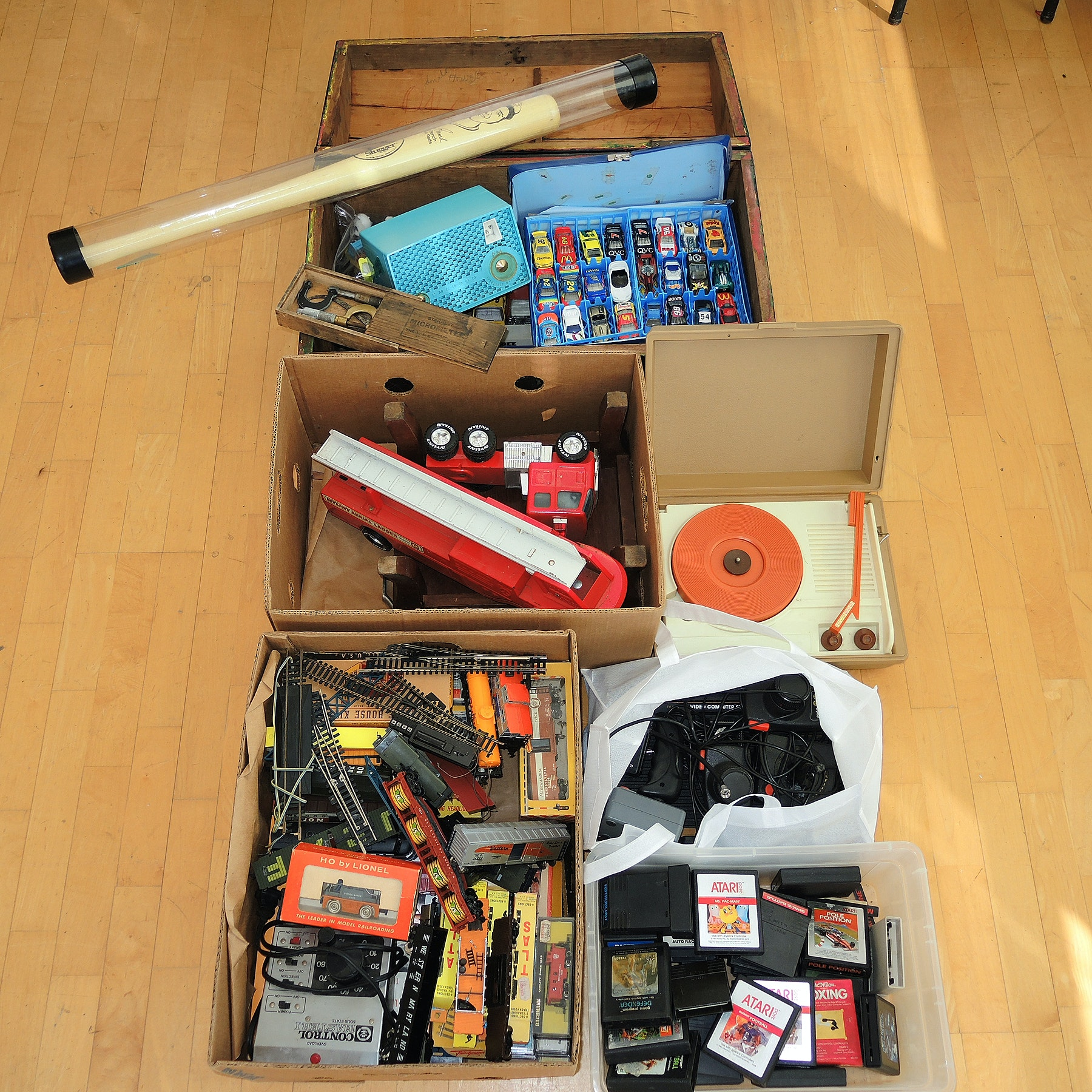 Vintage Toy Assortment Featuring Atari