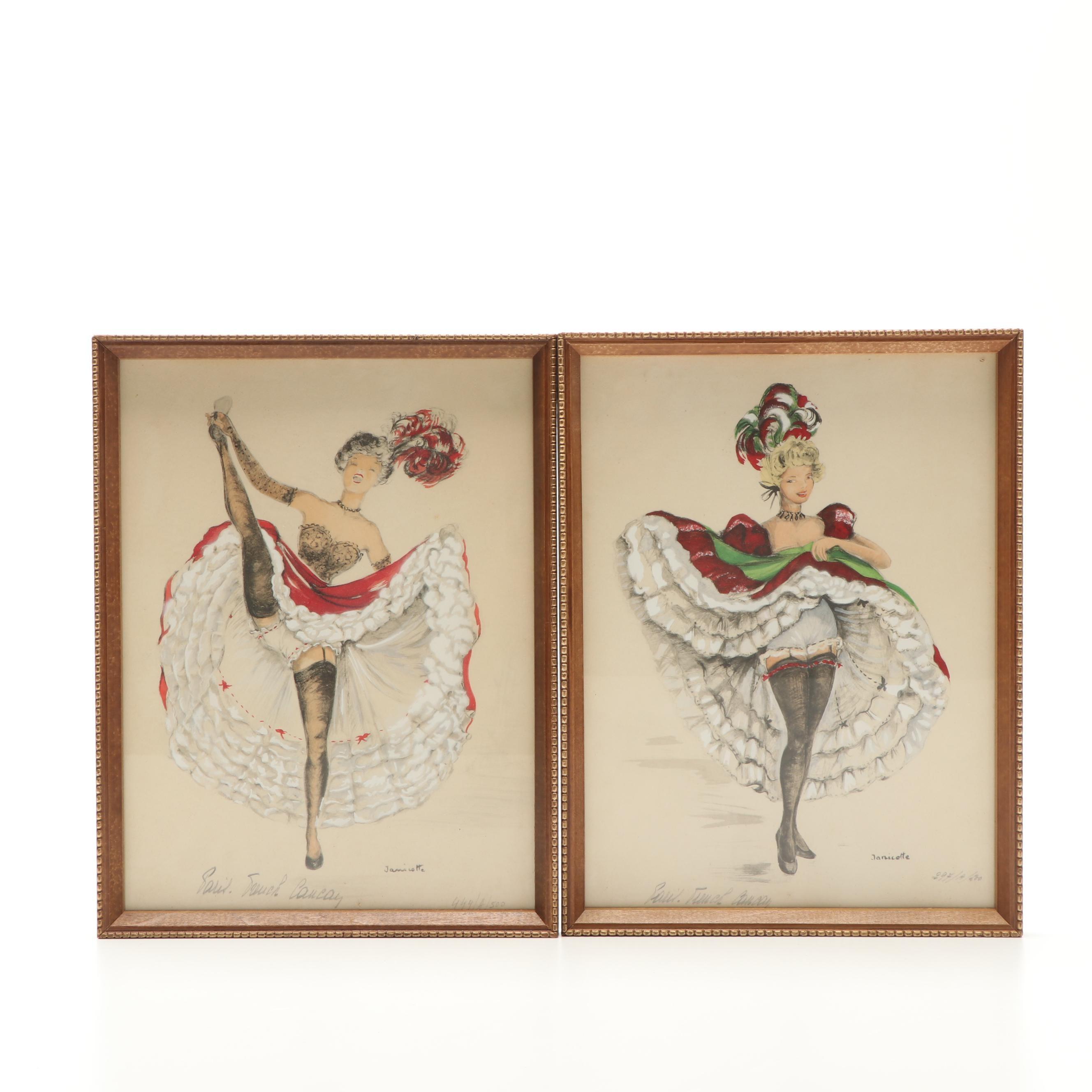 Janicotte Dancer Lithographs