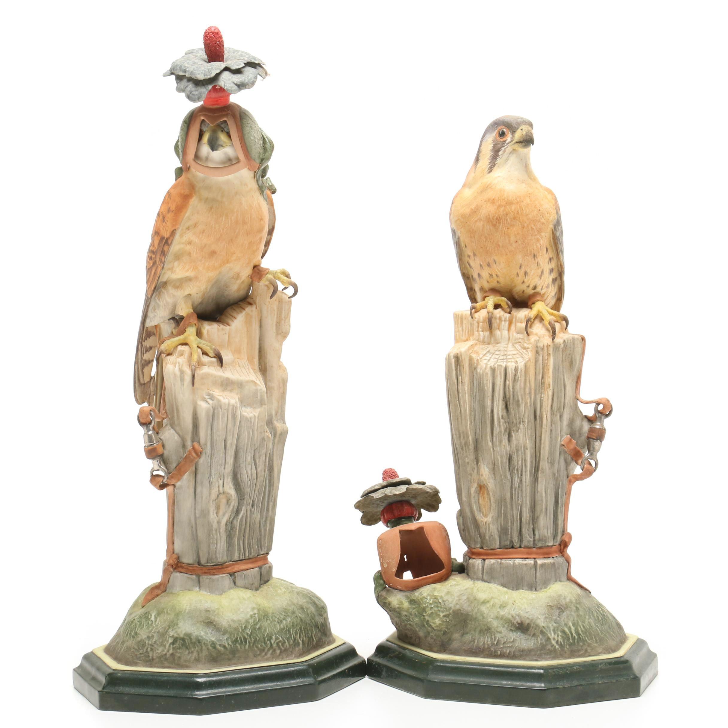 """Boehm """"Kestrel"""" Porcelain Sculptures"""