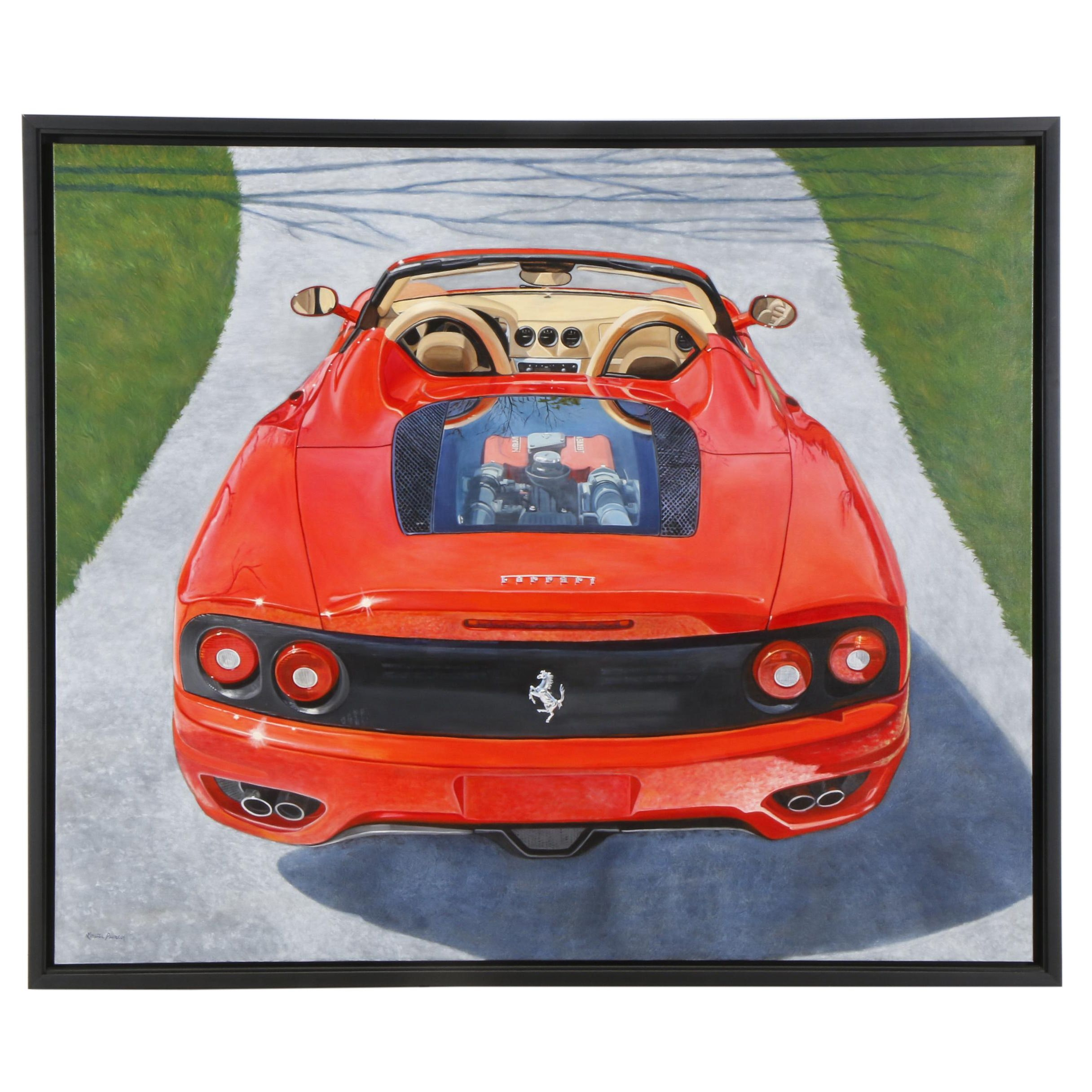 Loretta Puncer Mural-Sized Ferrari Portrait Oil Painting