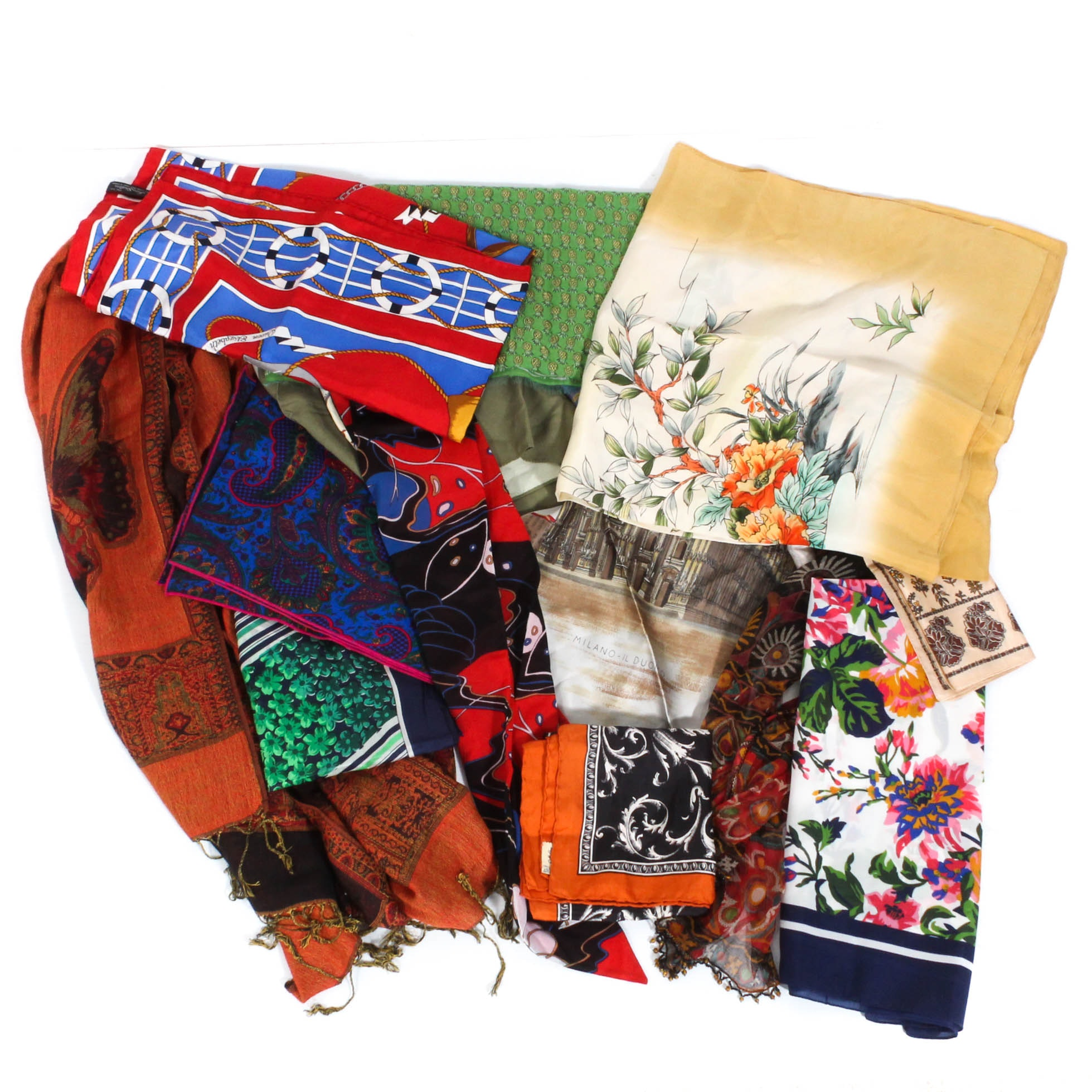 Vintage Scarves Including Liberty of London