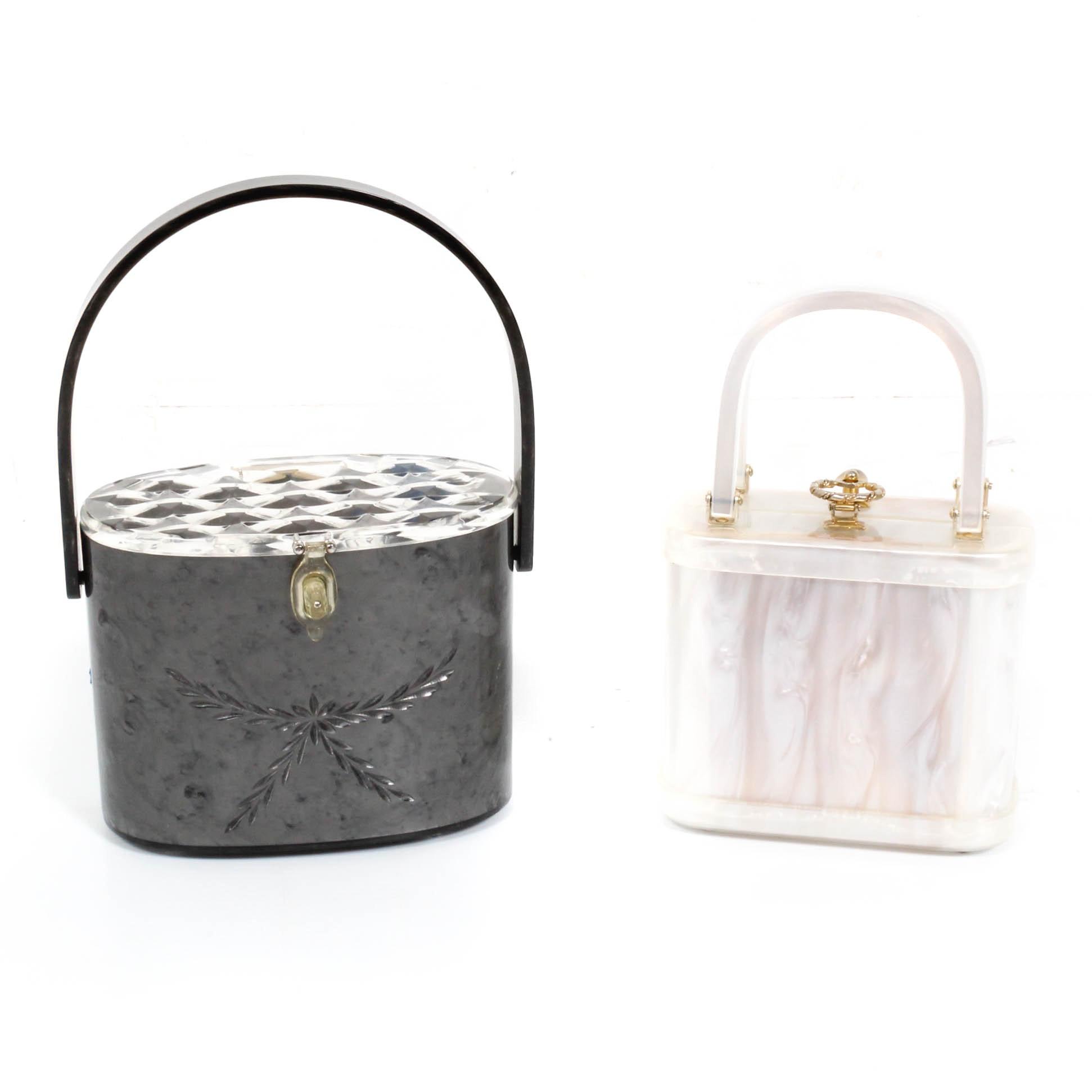 Vintage Original Rialto New York and Stylecraft Miami Lucite Handbags