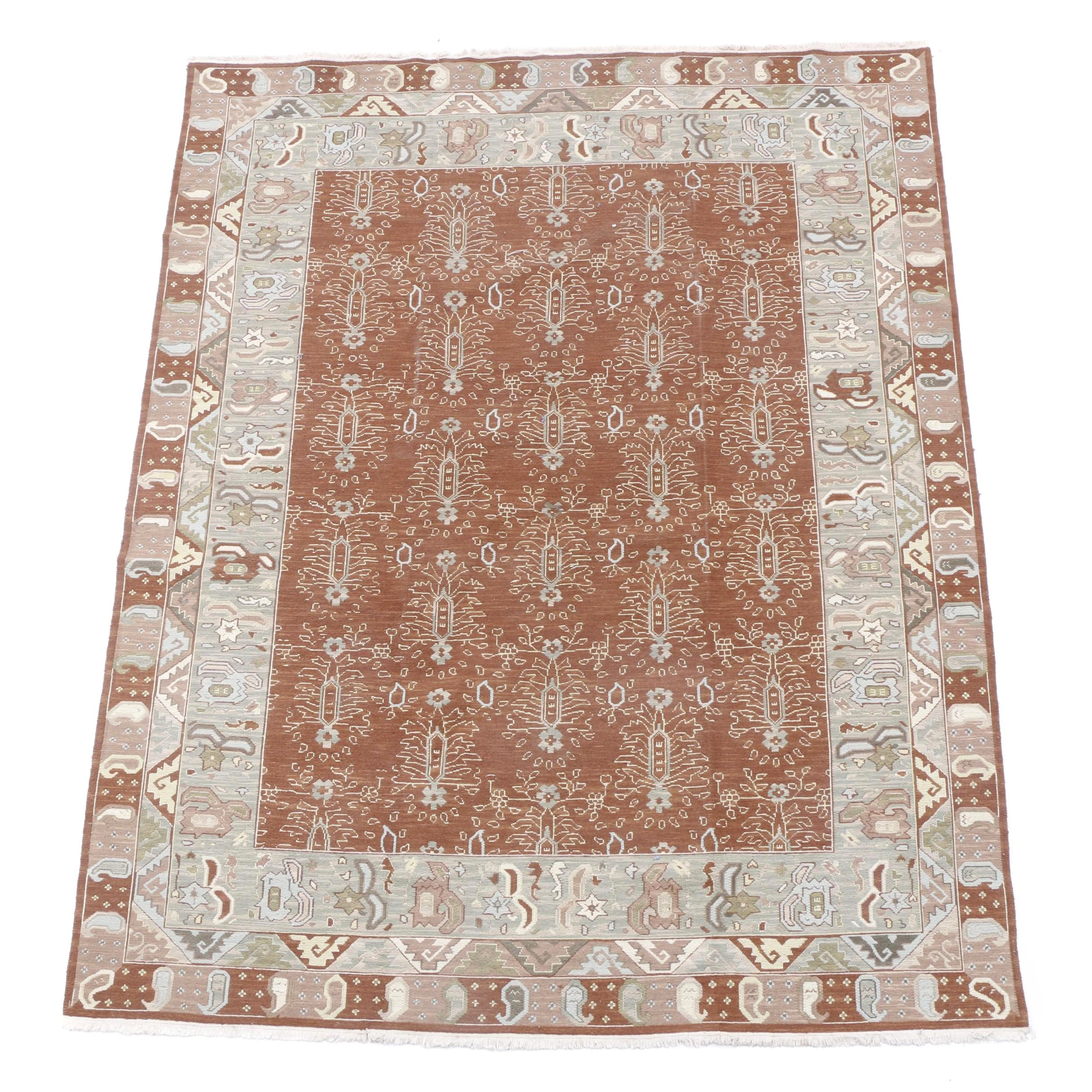 Hand-Knotted Indian Jaipur Wool Area Rug