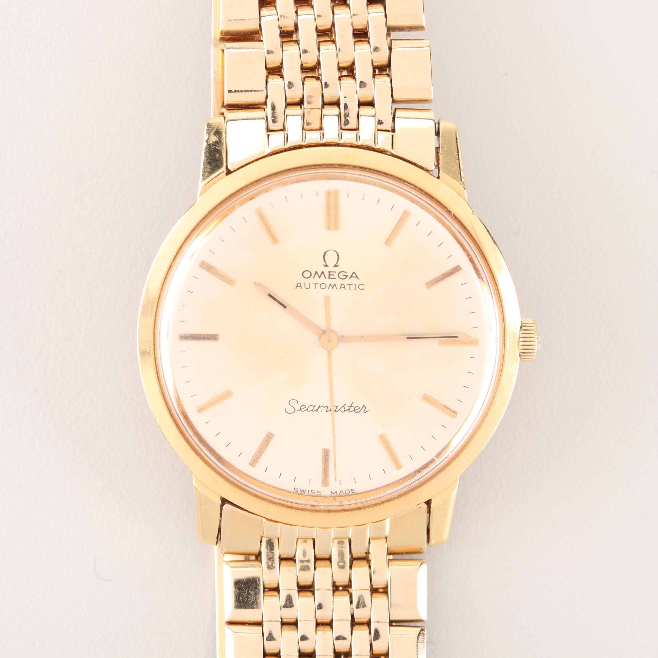 Omega Seamaster 14K and 18K Yellow Gold Wristwatch