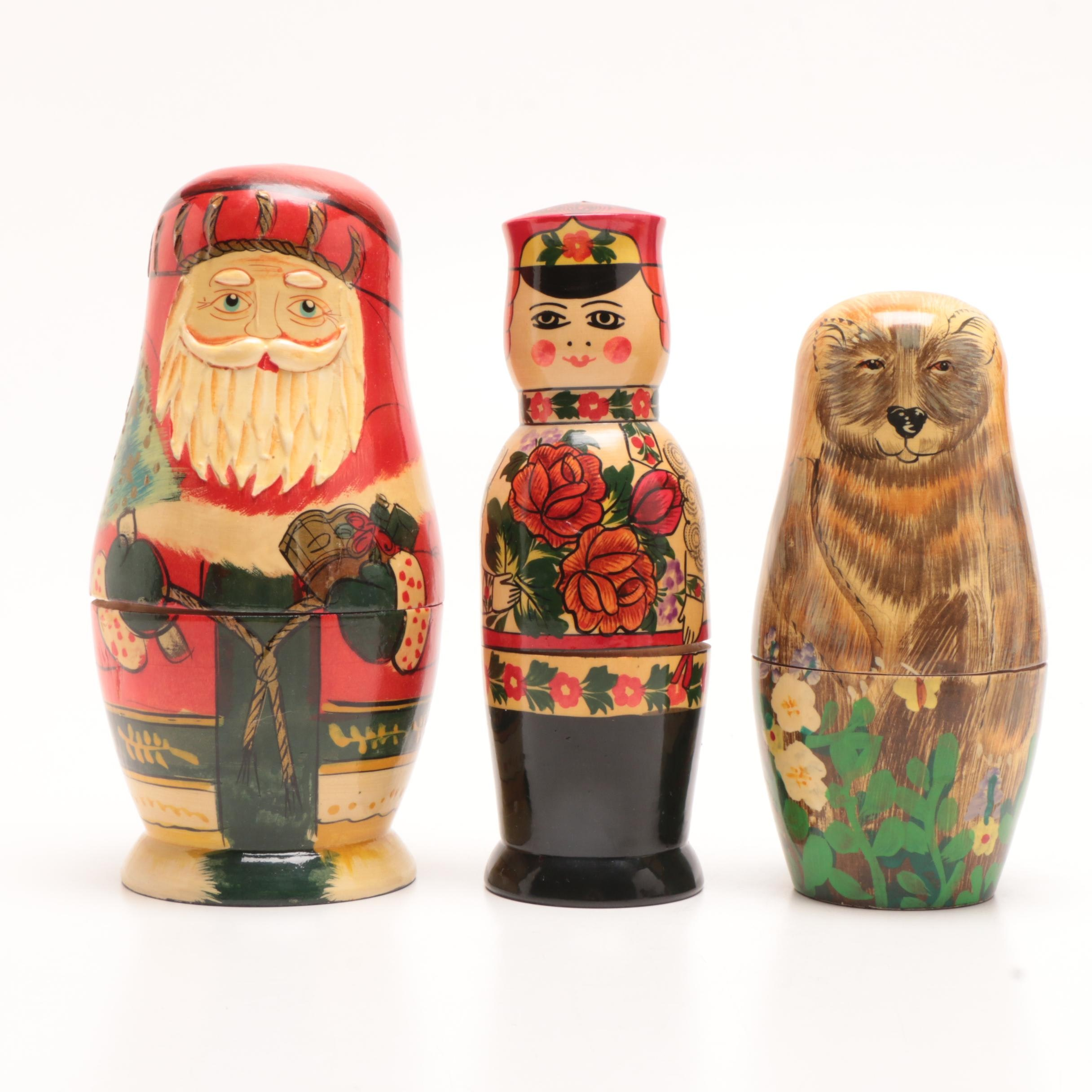 Hand-Painted Russian Nesting Doll
