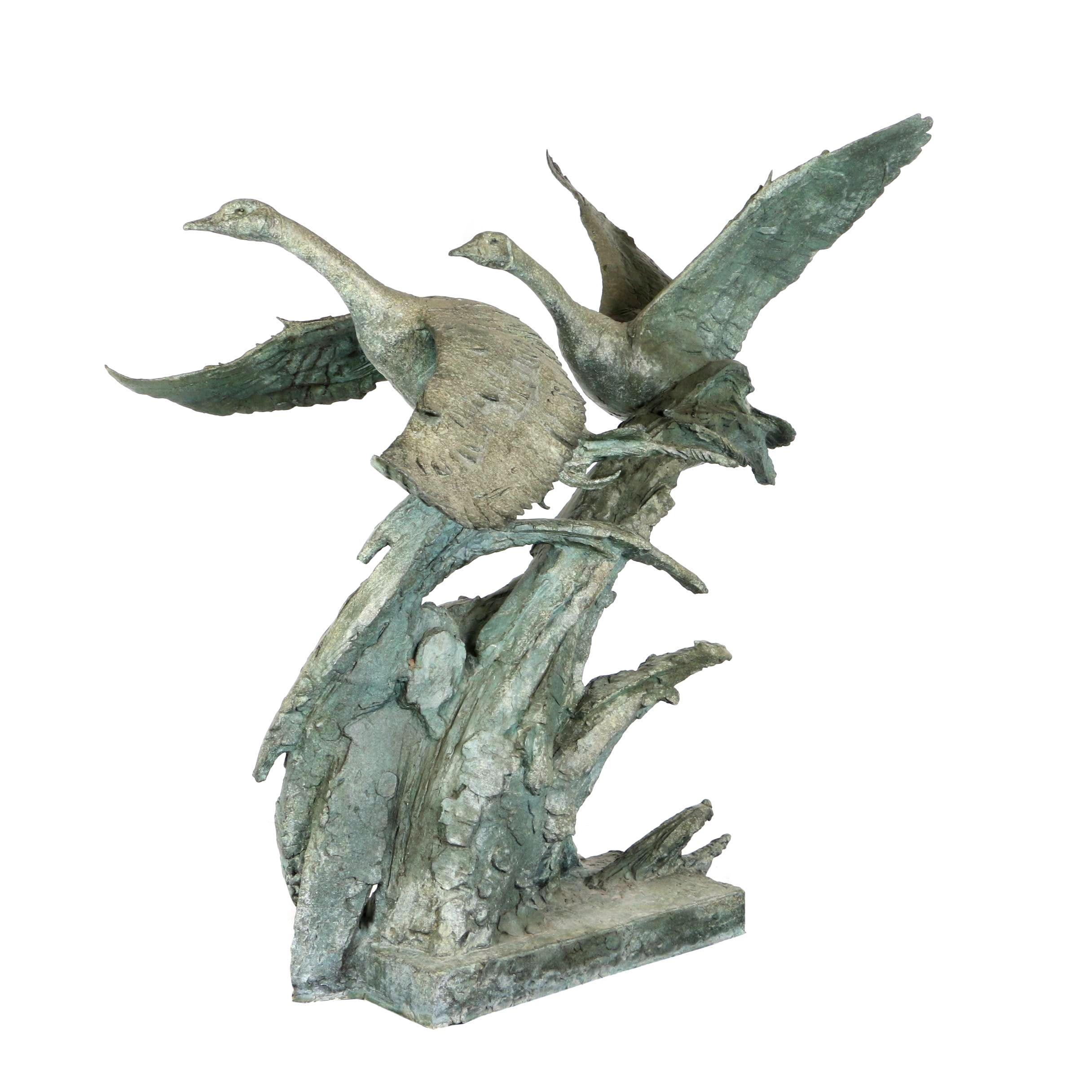 "Gary Lee Price 1998 Monumental Patinated Bronze Sculpture ""Journey II"""