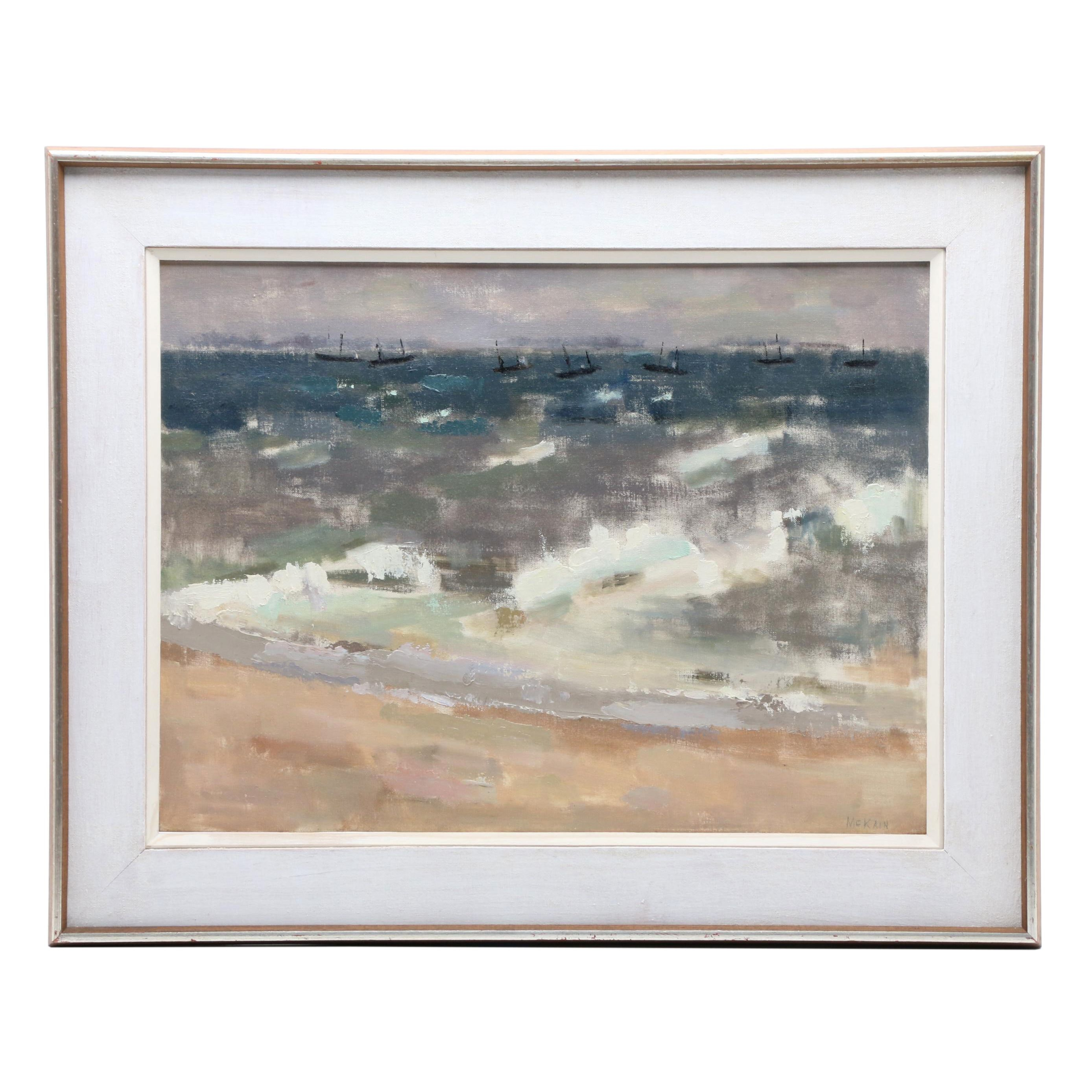 "Bruce McKain Oil Painting ""Southeaster, Provincetown"""