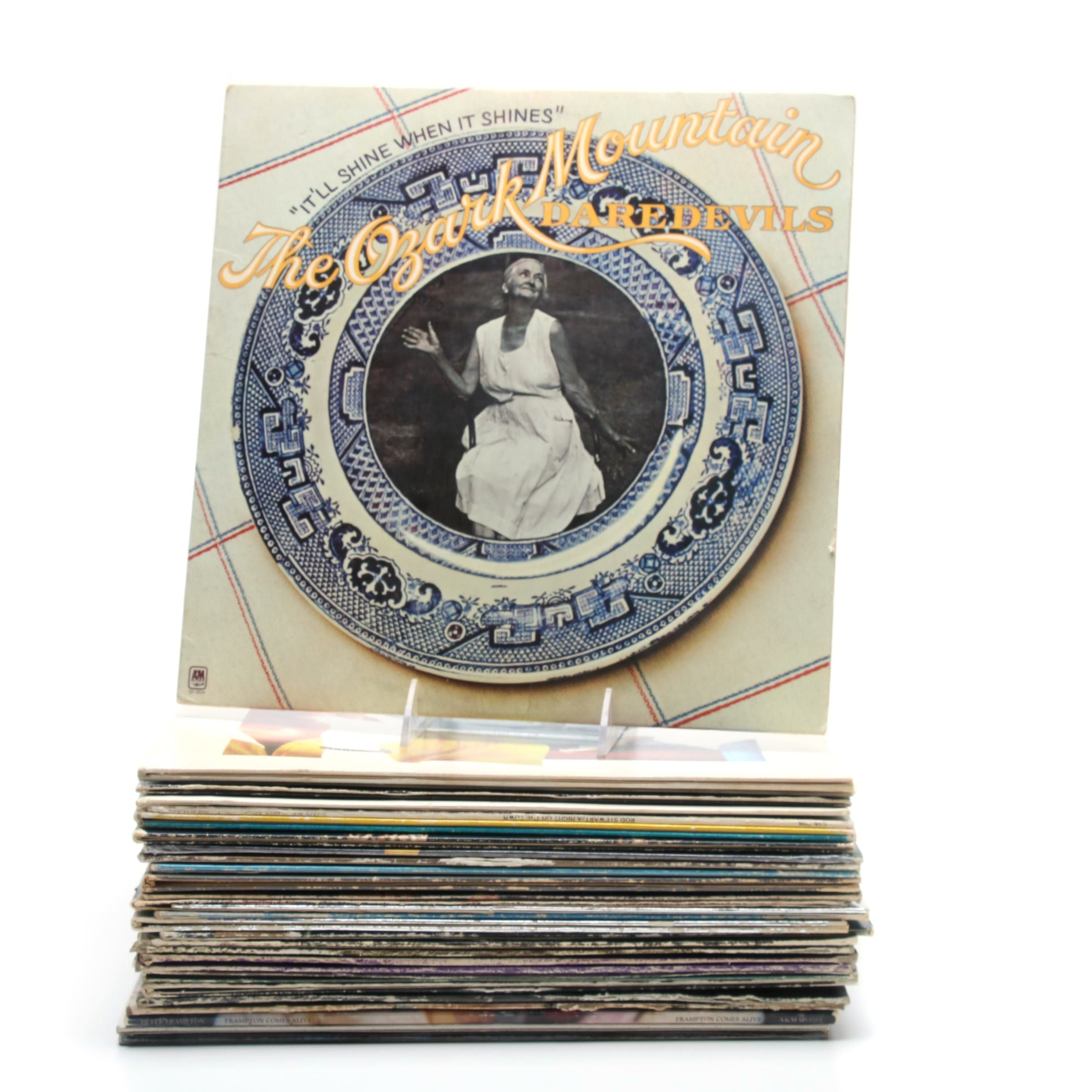 1970s Rock Records Including Rod Stewart, Rush, Jefferson Airplane and More