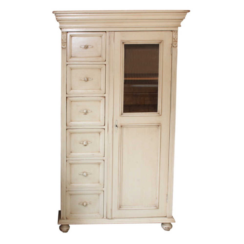 Rustic White Painted Wardrobe