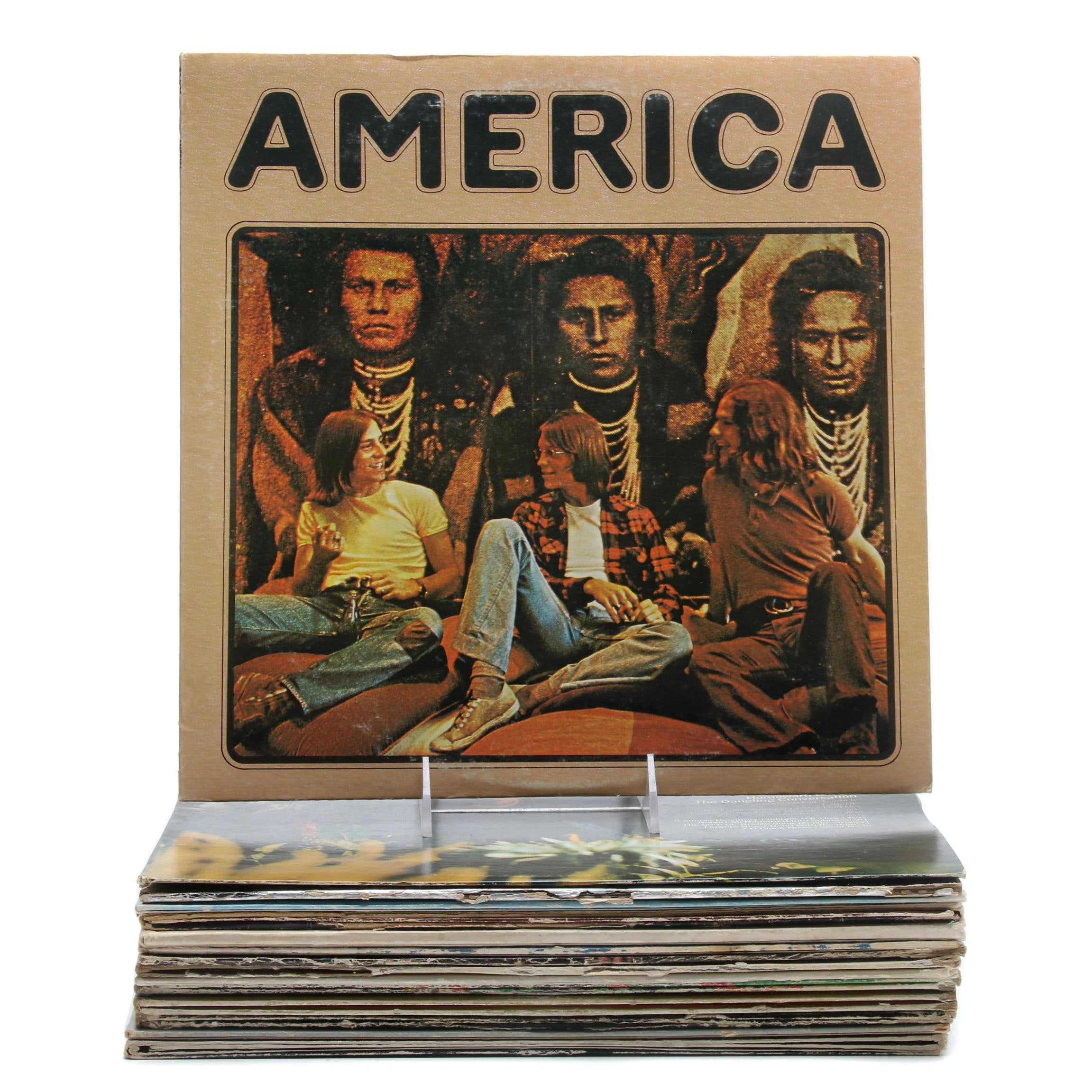Folk, Rock, and Pop Vinyl Records Including Steely Dan and America