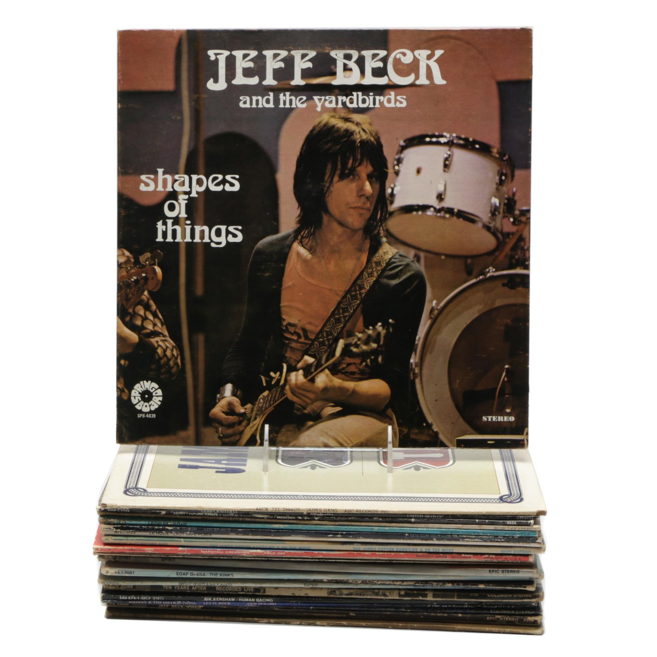 1970s and 1980s Rock Records Including The Kinks, Jeff Beck and More