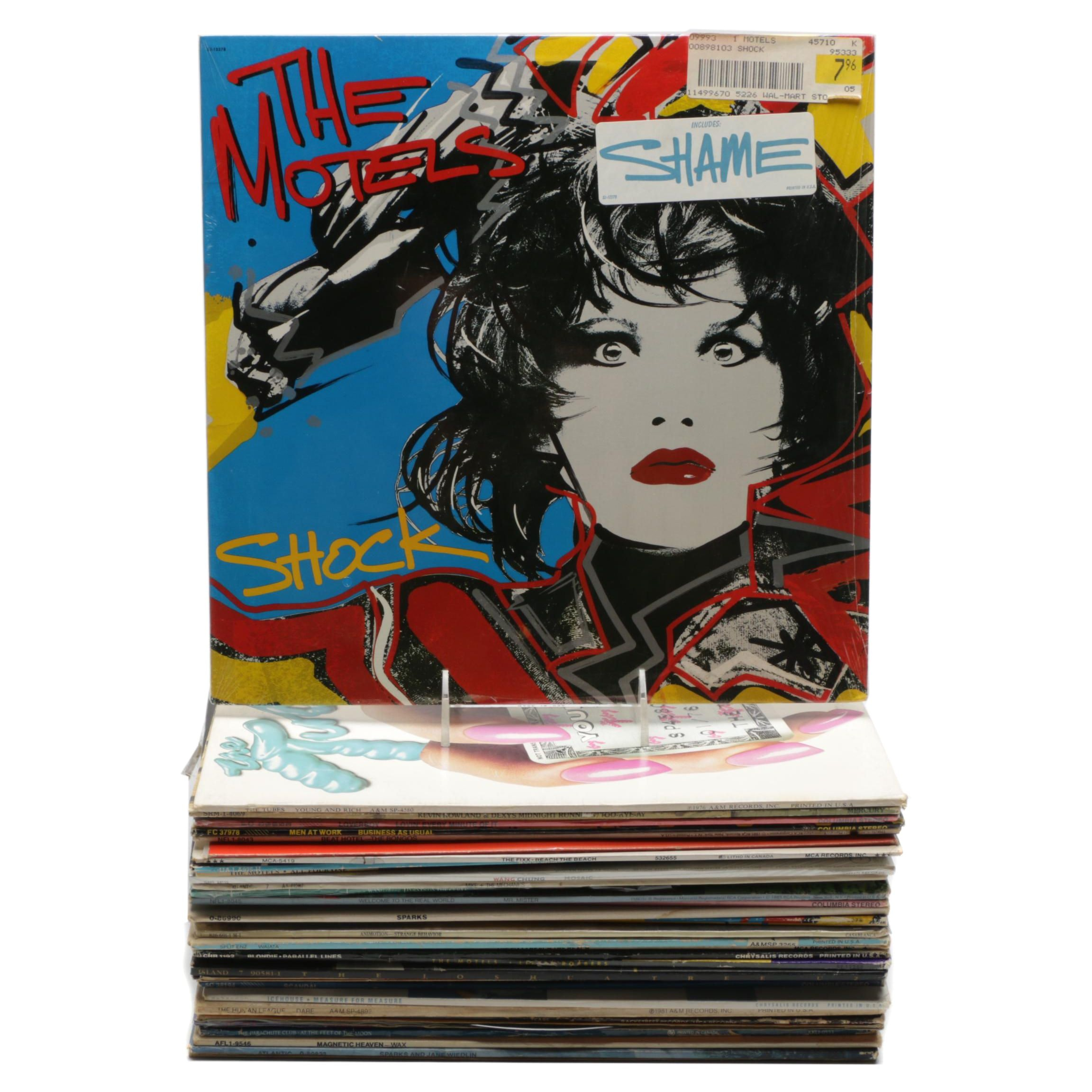 New Wave and Rock Records Including U2, Ultravox, Blondie and More
