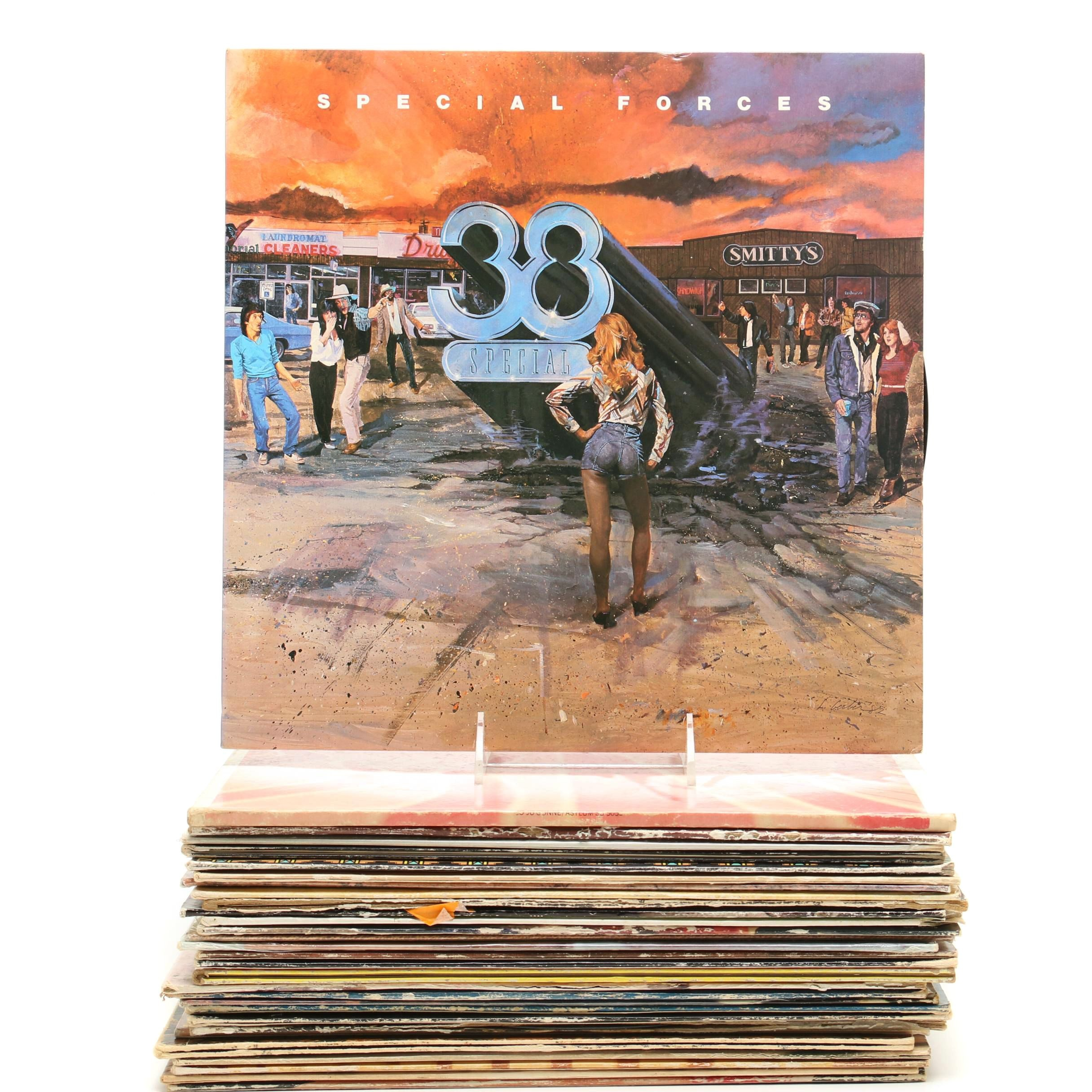 Country and Country/Southern Rock Records Including WIllie Nelson
