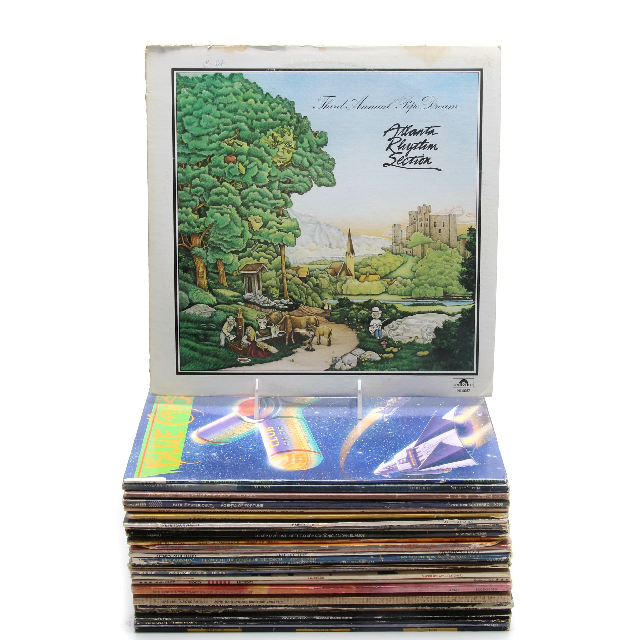 Collection of Rock Records Including Dave Mason and Blue Oyster Cult